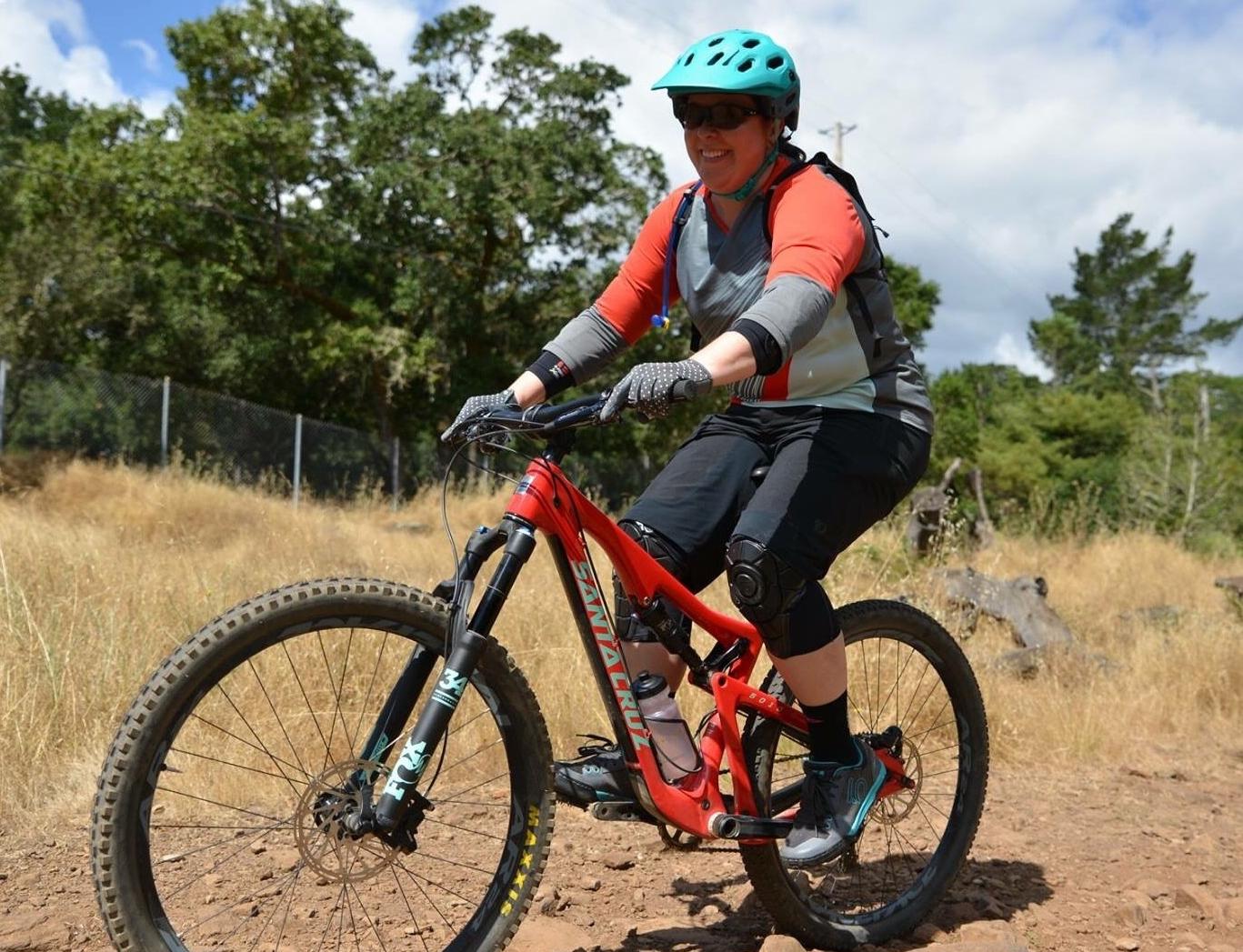 Alyson at a recent  Bell Joy Ride Santa Rosa  event at Annadel State Park.