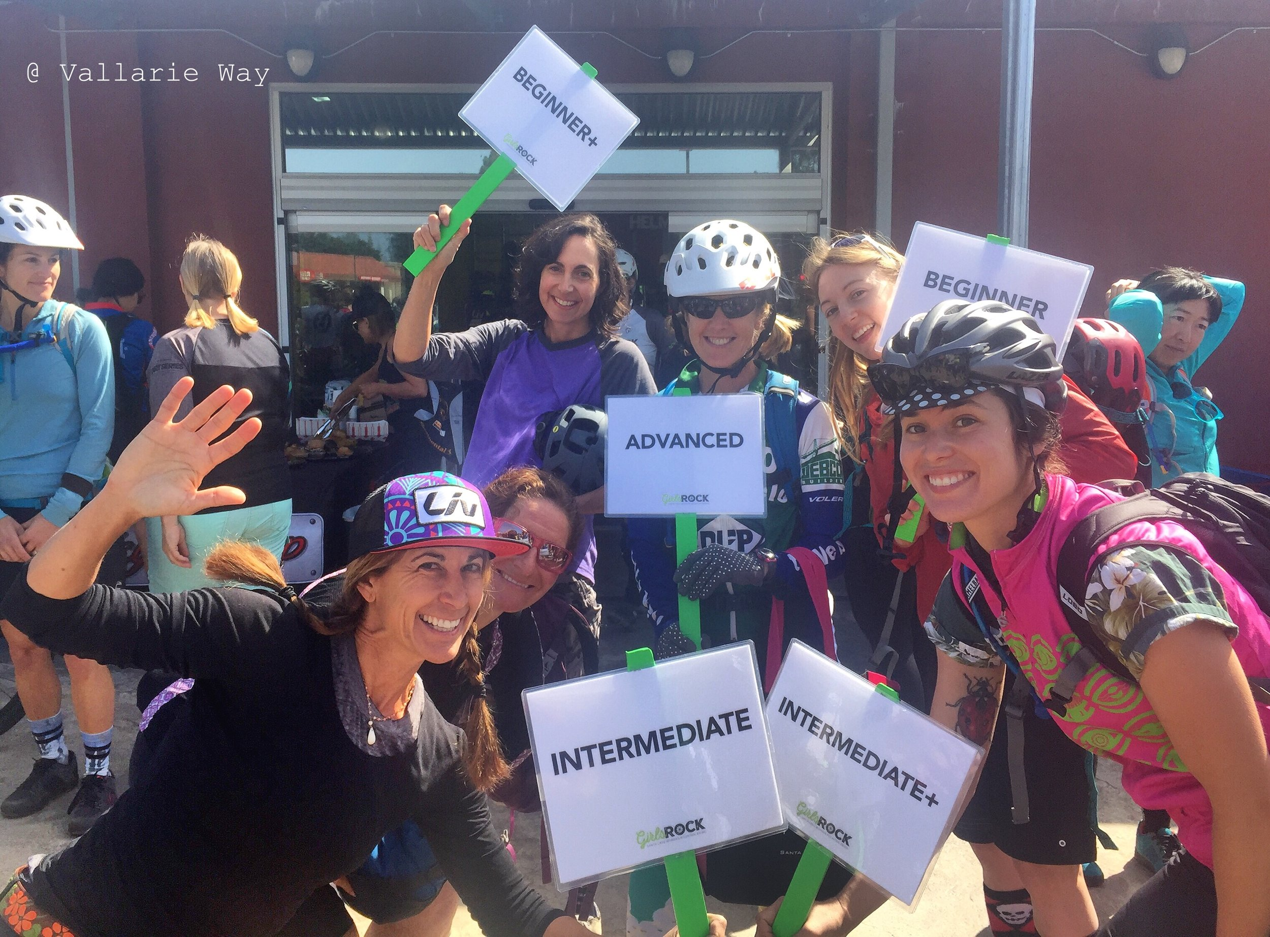 "Cynthia Busenhart-Robison, back row, far left, holding the Beginner + sign. ""Learning something new can often be challenging, frustrating and sometimes even humbling. Keep at it. Most of all, have fun and don't be hard on yourself. We all start at the same place."""