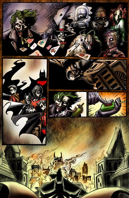 Batman Sequential art page 2 Color