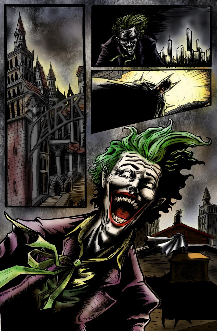 Batman Sequential art page 1 color
