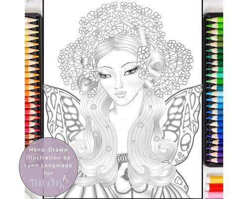 The Garden of Bath! A fantastical floral bouquet coloring page ... | 400x500