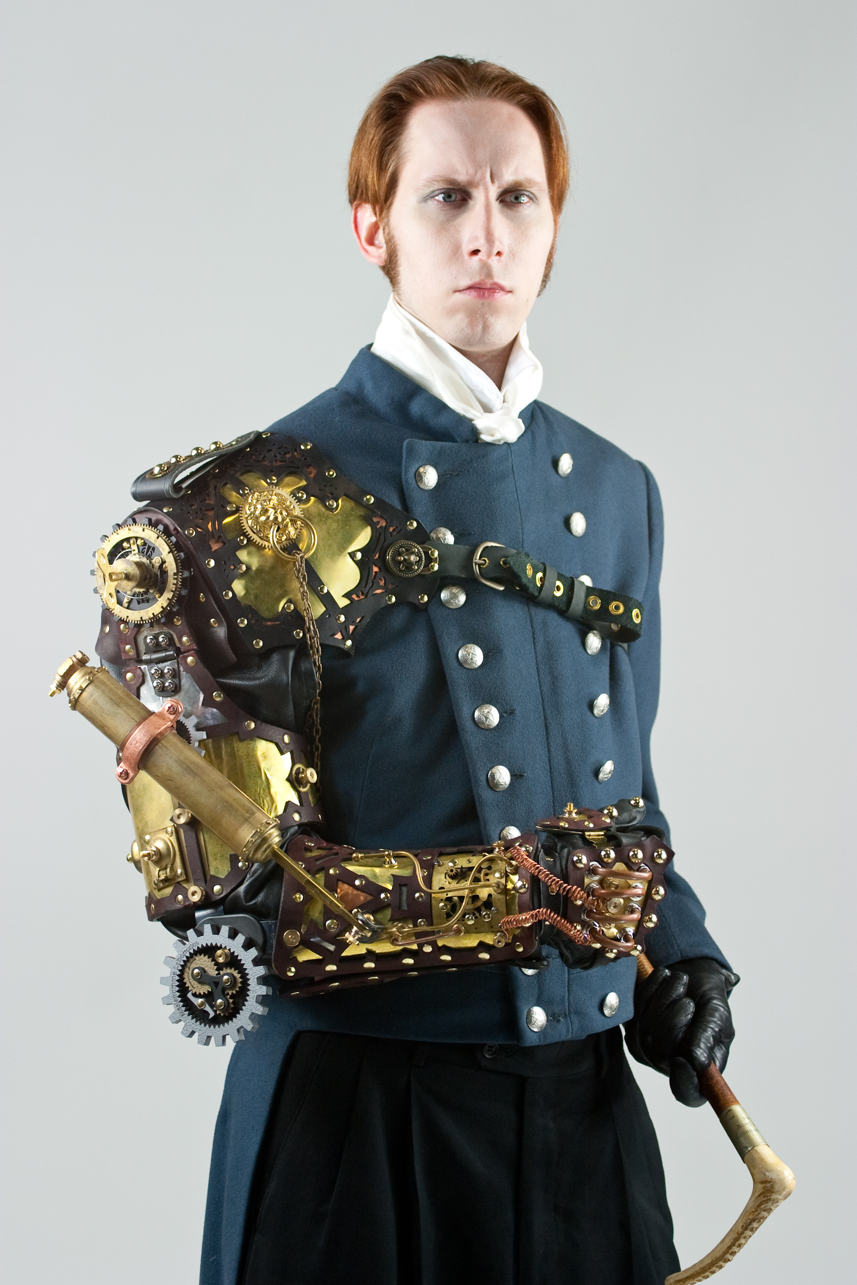 But it would be so cool...! Steampunk image of author, GD   Falksen ,in a poor mechanism created by  Thomas   Willeford .