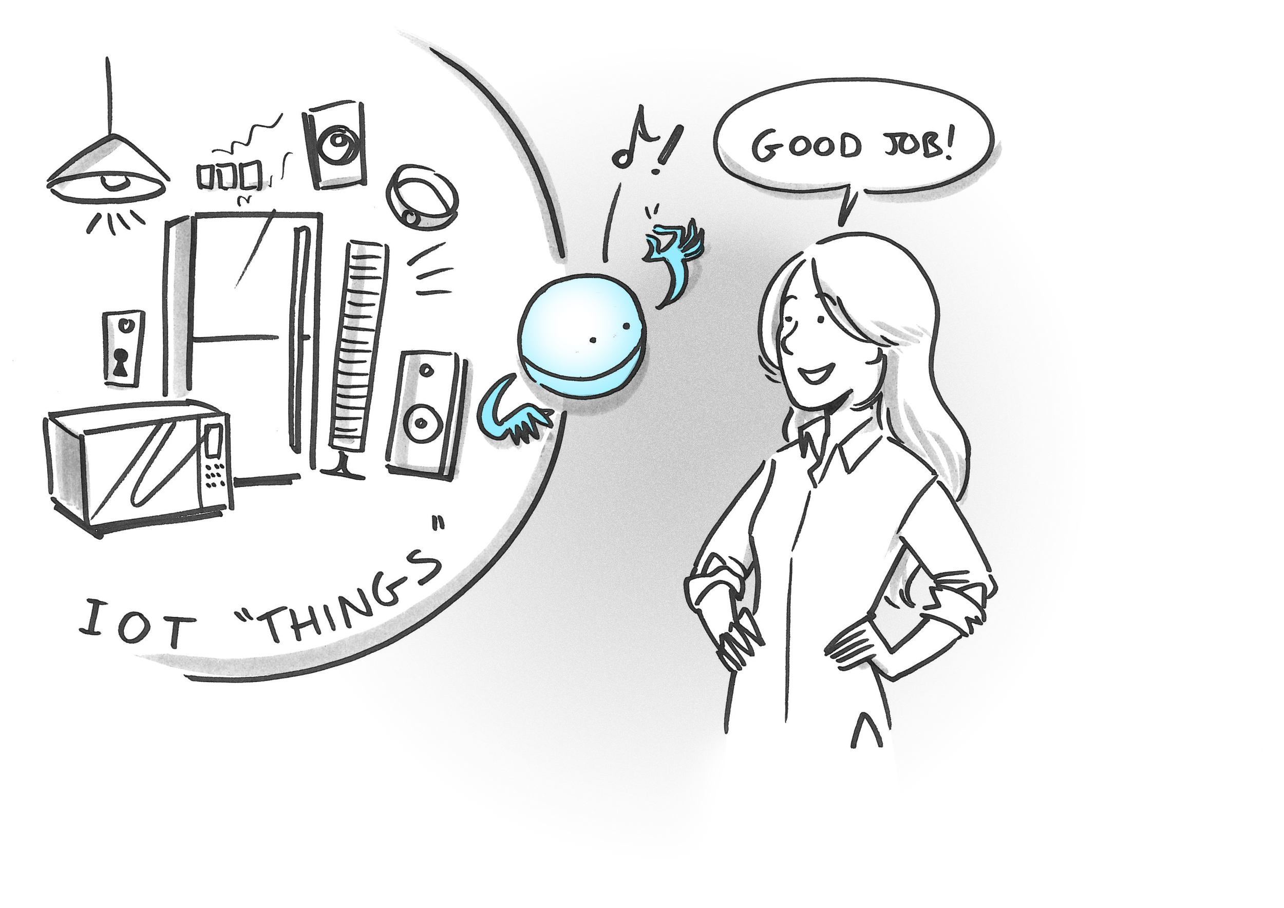 The Housekeeper of Me manages Internet of Things things.
