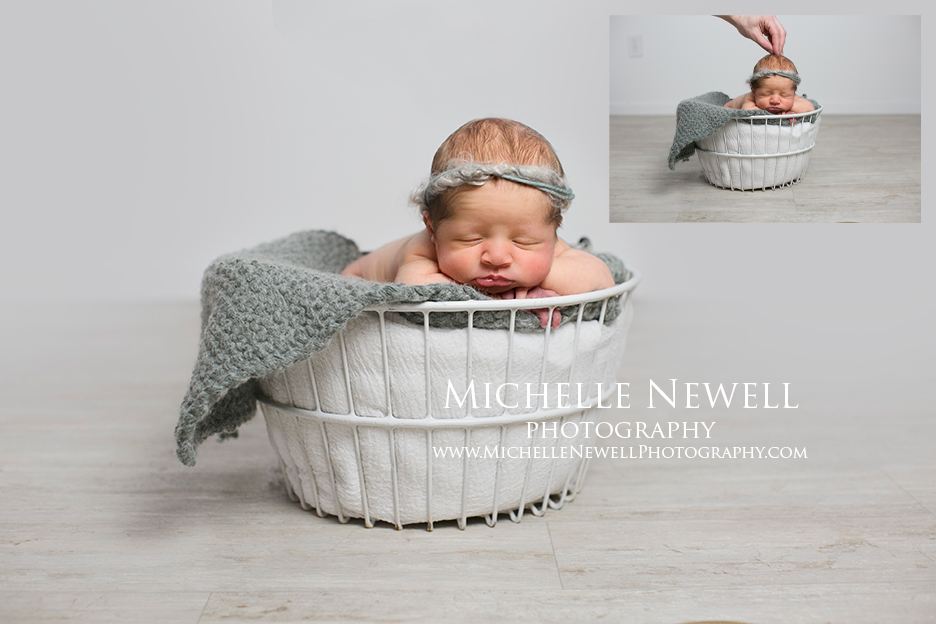 Newborn Photography Before & After by Michelle Newell Photography