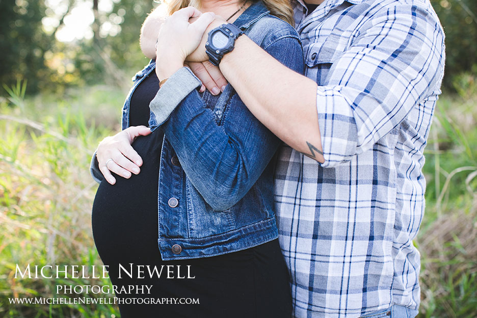 Couple Maternity Portraits by Michelle Newell Photography