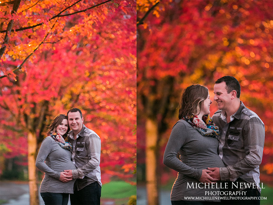 Pacific Northwest Fall Maternity Photography by Michelle Newell