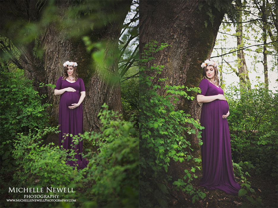 Outdoor Maternity Portrait by Michelle Newell