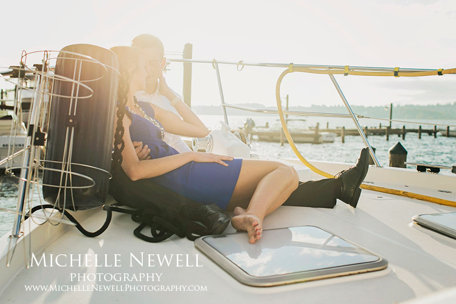 Summer Engagement Portraits by Michelle Newell