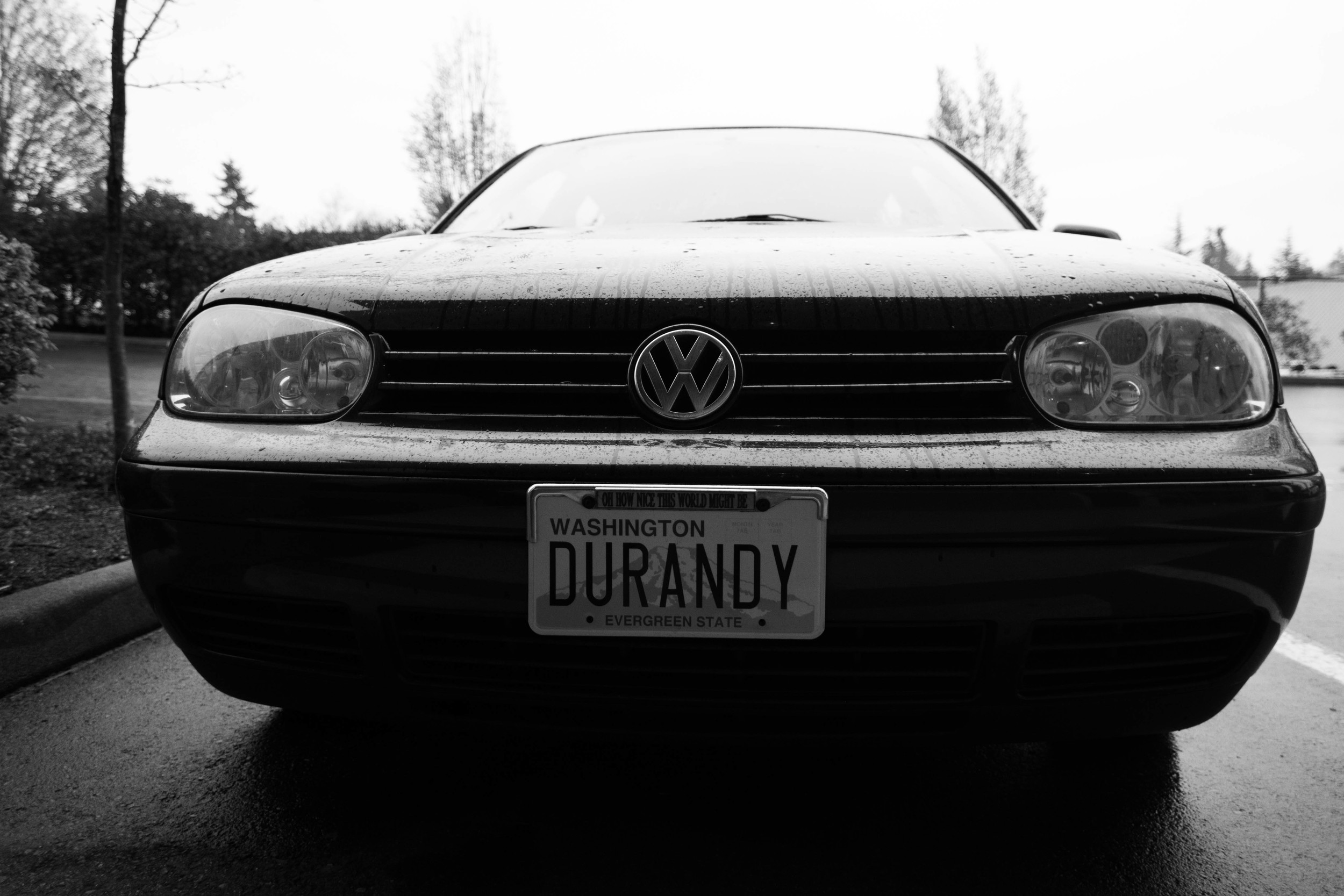 """Andrew """"Durandy"""" Golub's personalized license plate. Golub, 42, has become a well-known archivist of Duran Duran memorabilia. He houses his in a storage unit in Bellevue, Wash."""