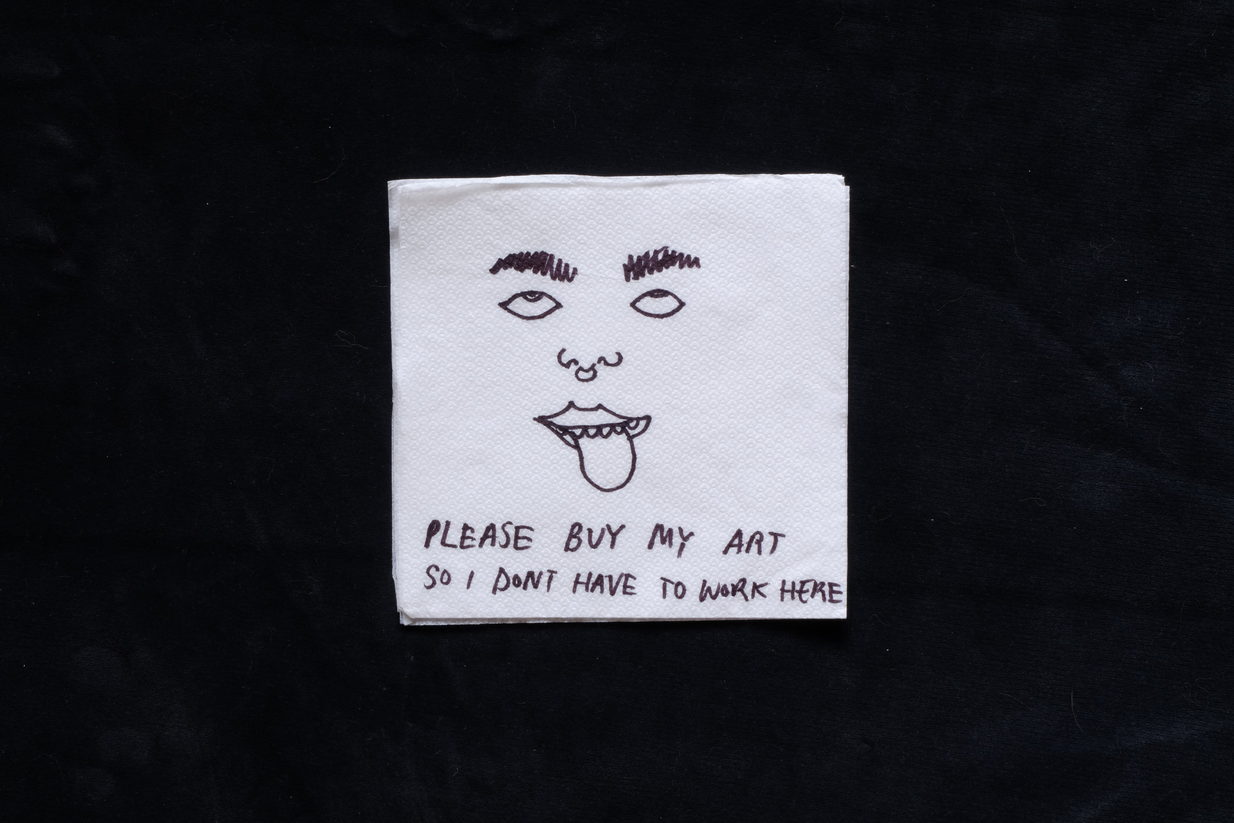 'Please buy my Art'