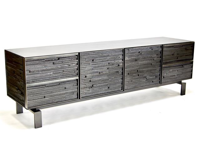 Just finished up this custom 8ft charred wood cabinet. @coupdetatsf @jlistondesign