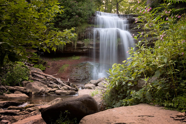 Smokey Hollow Waterfall in Waterdown by  Joe deSousa