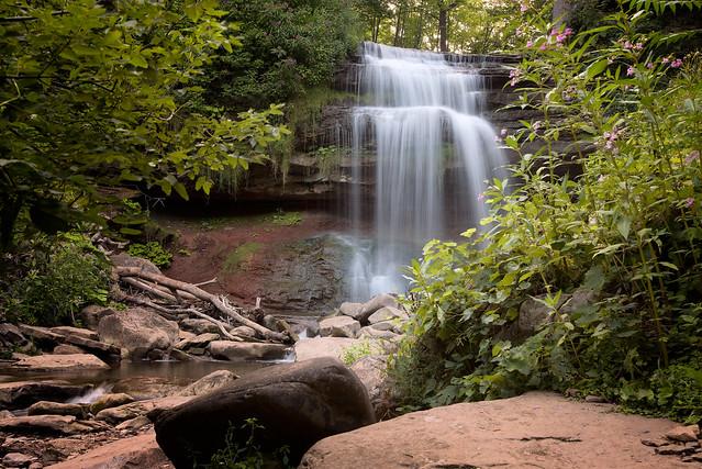 Smokey Hollow Waterfall in Waterdown by  Joe deSousa