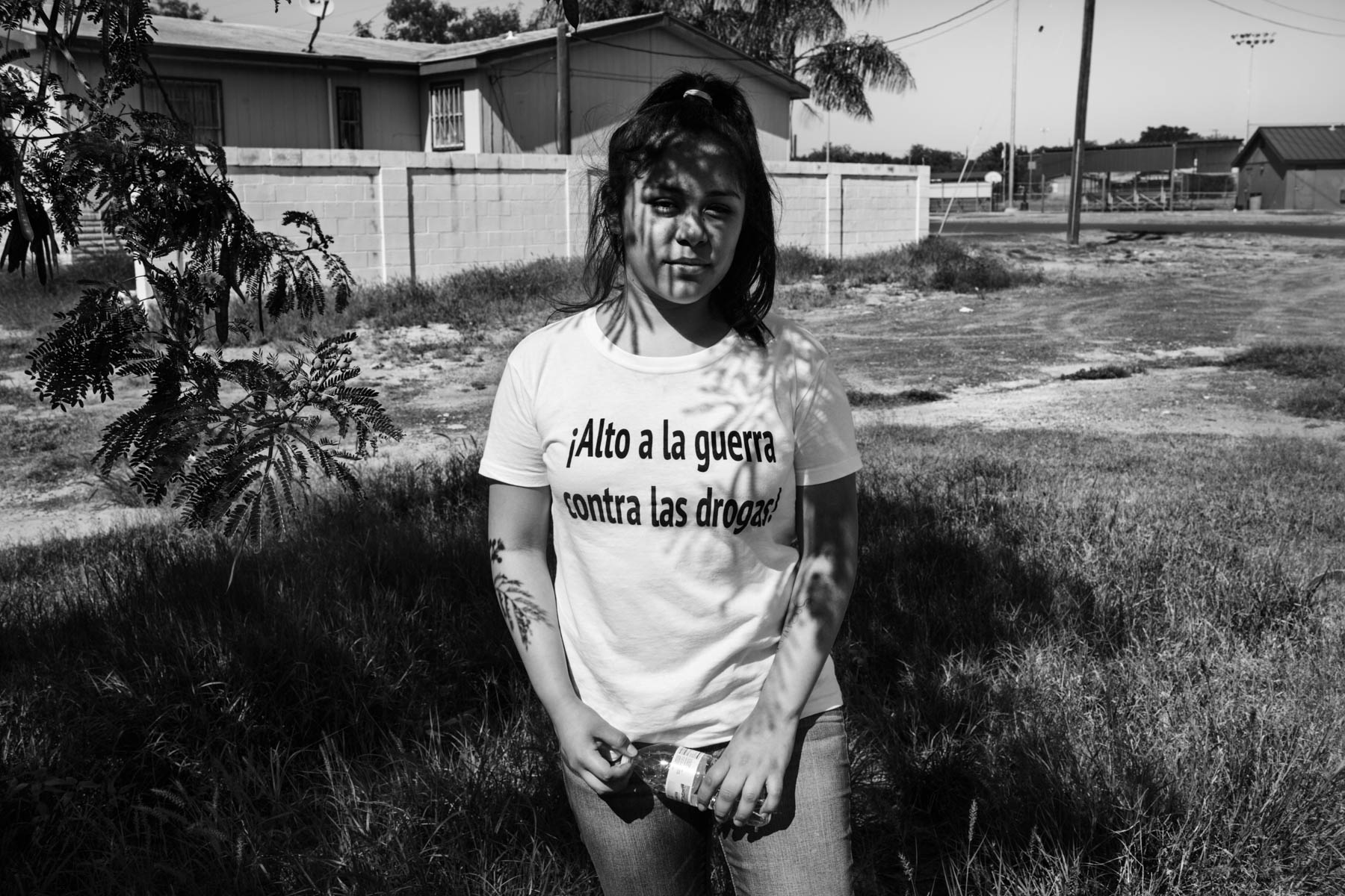 14 Apr 2016 - Laredo, Texas - Heidy Animas Lazcano poses on the parking lot of the church Centro Familiar Christiano, where she is waiting for her mother Myrna to be released by the CBP. Heidy and her sister Michel have been seperated from their mother after she was deported to Mexico three years ago in 2013. In 2012, 200 thousand parents have been separted from their US-citizen children through deportation.