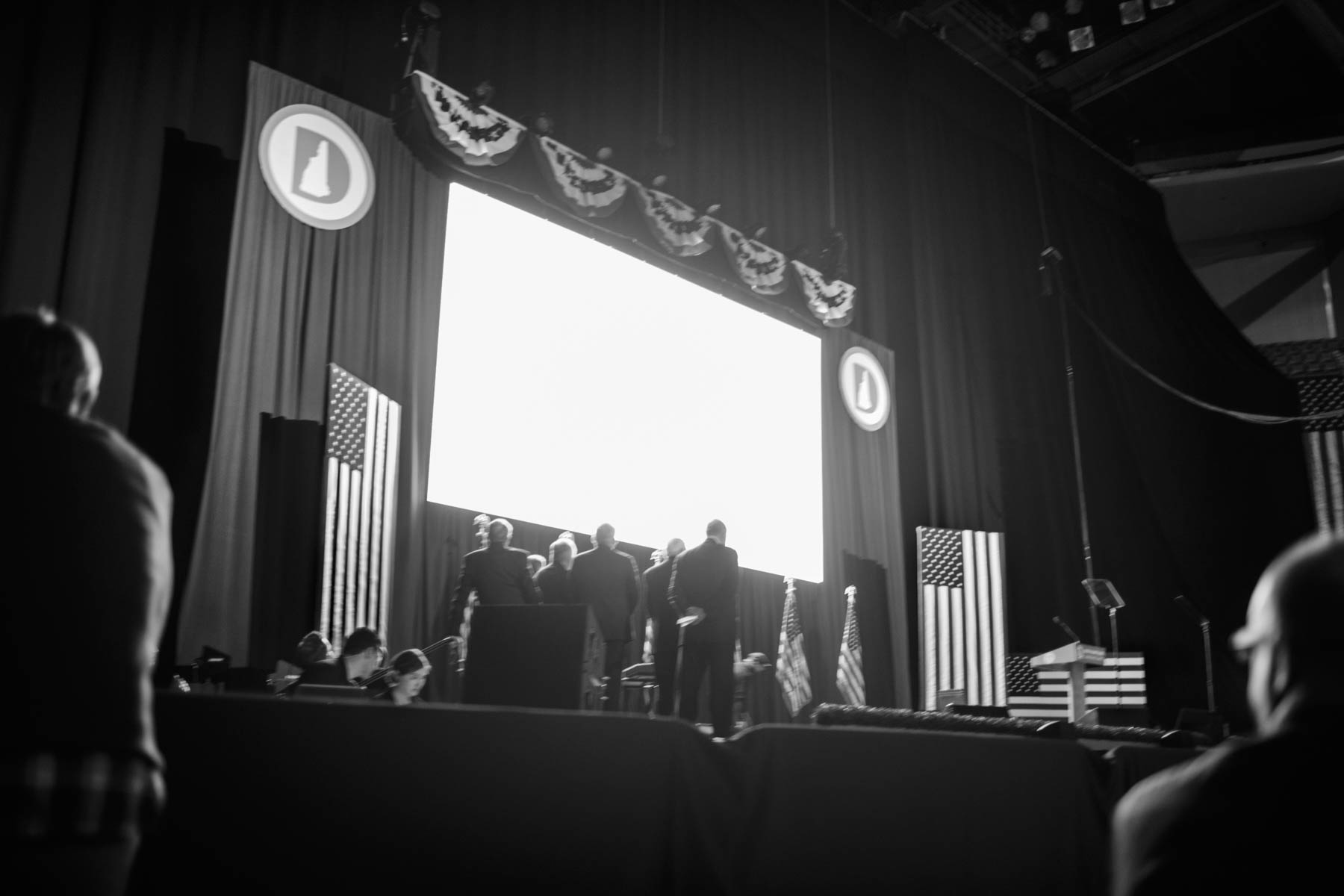 5 Feb 2016 - Manchester, New Hampshire - Democratic Party officials are running a slideshow at the 2016 McIntyre-Shaheen 100 Club Celebration.