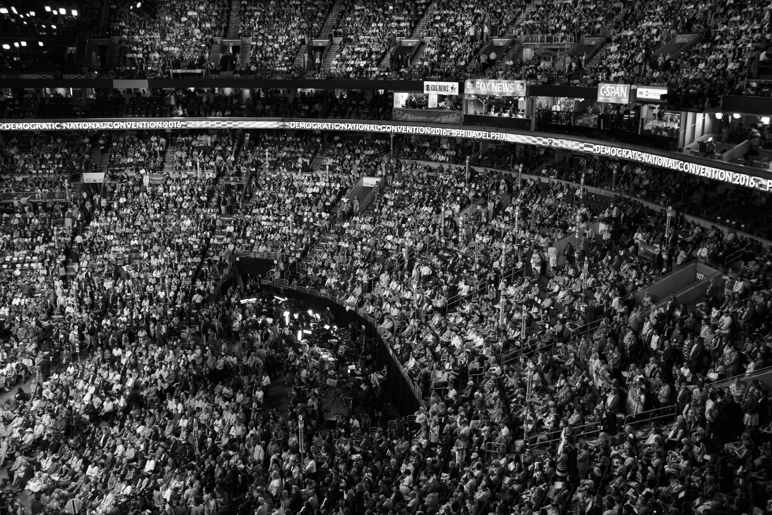 27 July 2016 - Philadelphia, PA - The Wells Fargo Center is packed on the third day of the Democratic National Convention. President Barack Obama and Vice President Joe Biden are scheduled to speak.Photo: Cédric von Niederhäusern