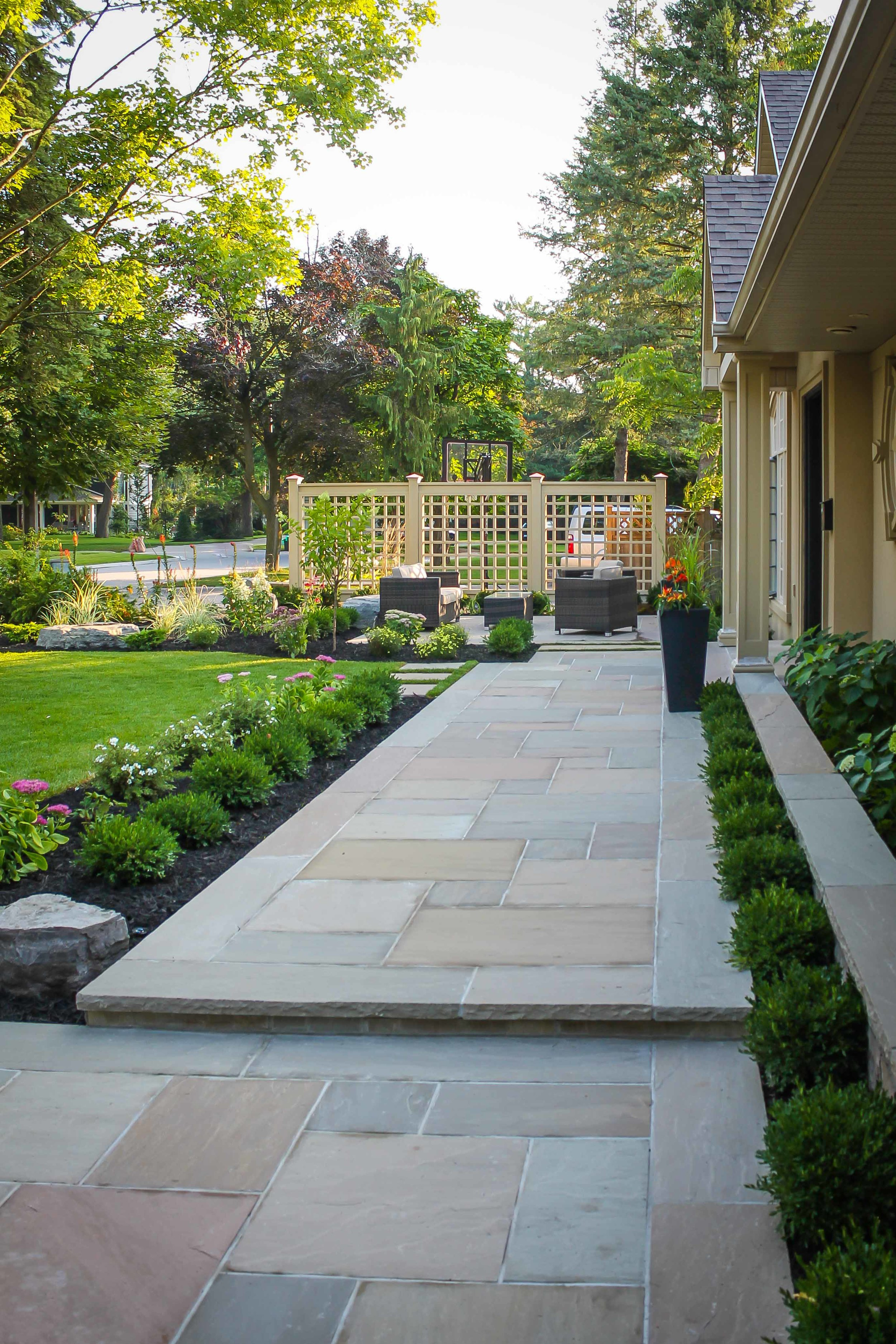 Front Stone Walk and Steps