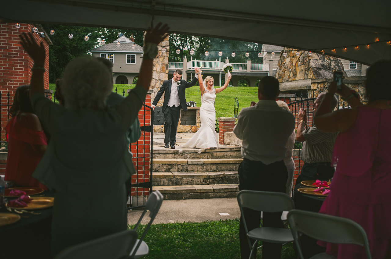 Hundred Mile House Wedding Reception Entrance Rome Ohio