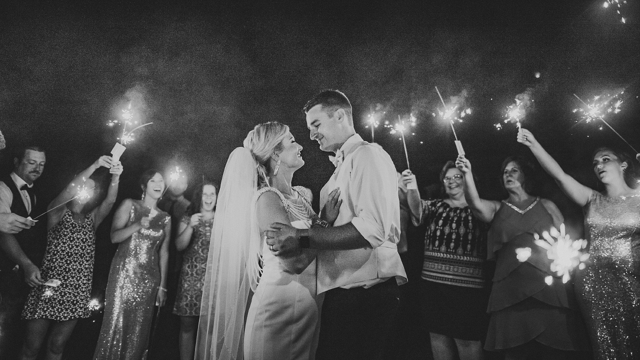 Wedding Sparkler Exit Portsmouth Ohio