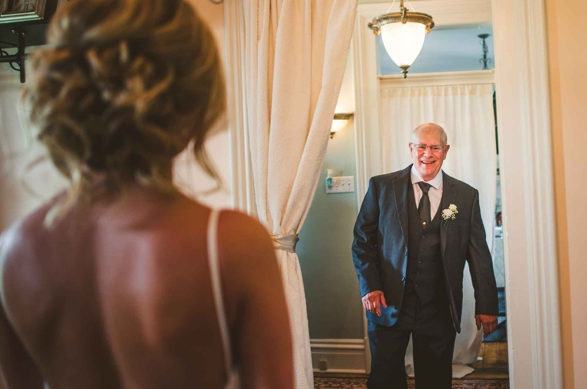 First look father of the bride
