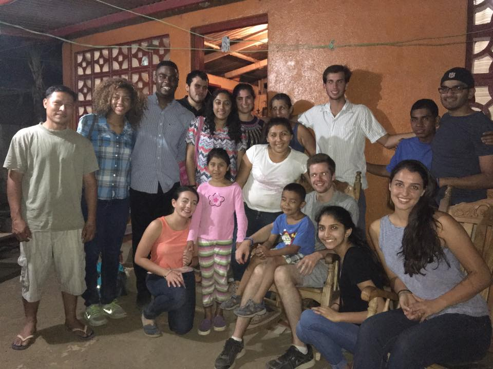 Spring Break groups were able to spend time and eat dinner at a community member's house! Here is the UNC team with Sonya and her family!