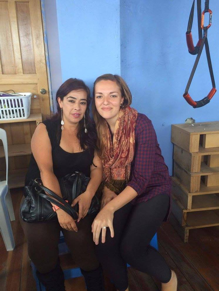 My former English student, Alexandra, at our Bienvenida / Despedida party. To learn more about her story, check out  this video  I made about her family's involvement in our programs.