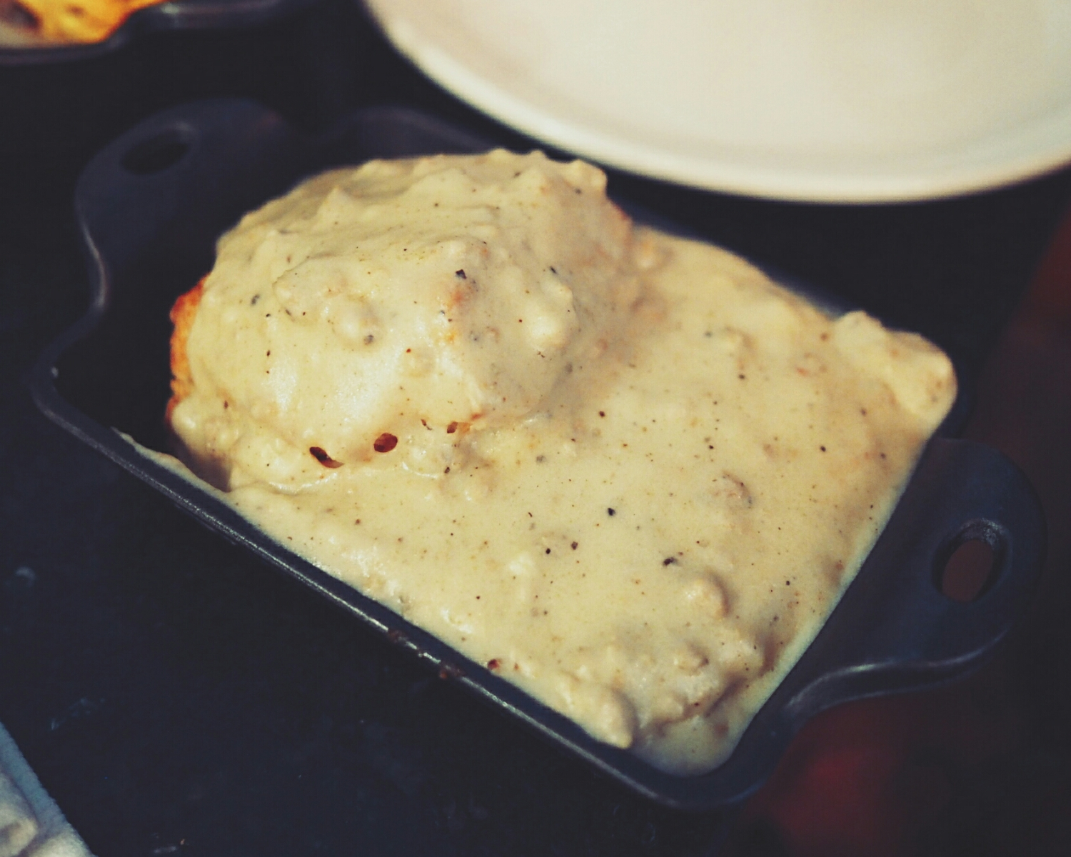 biscuit and gravy.
