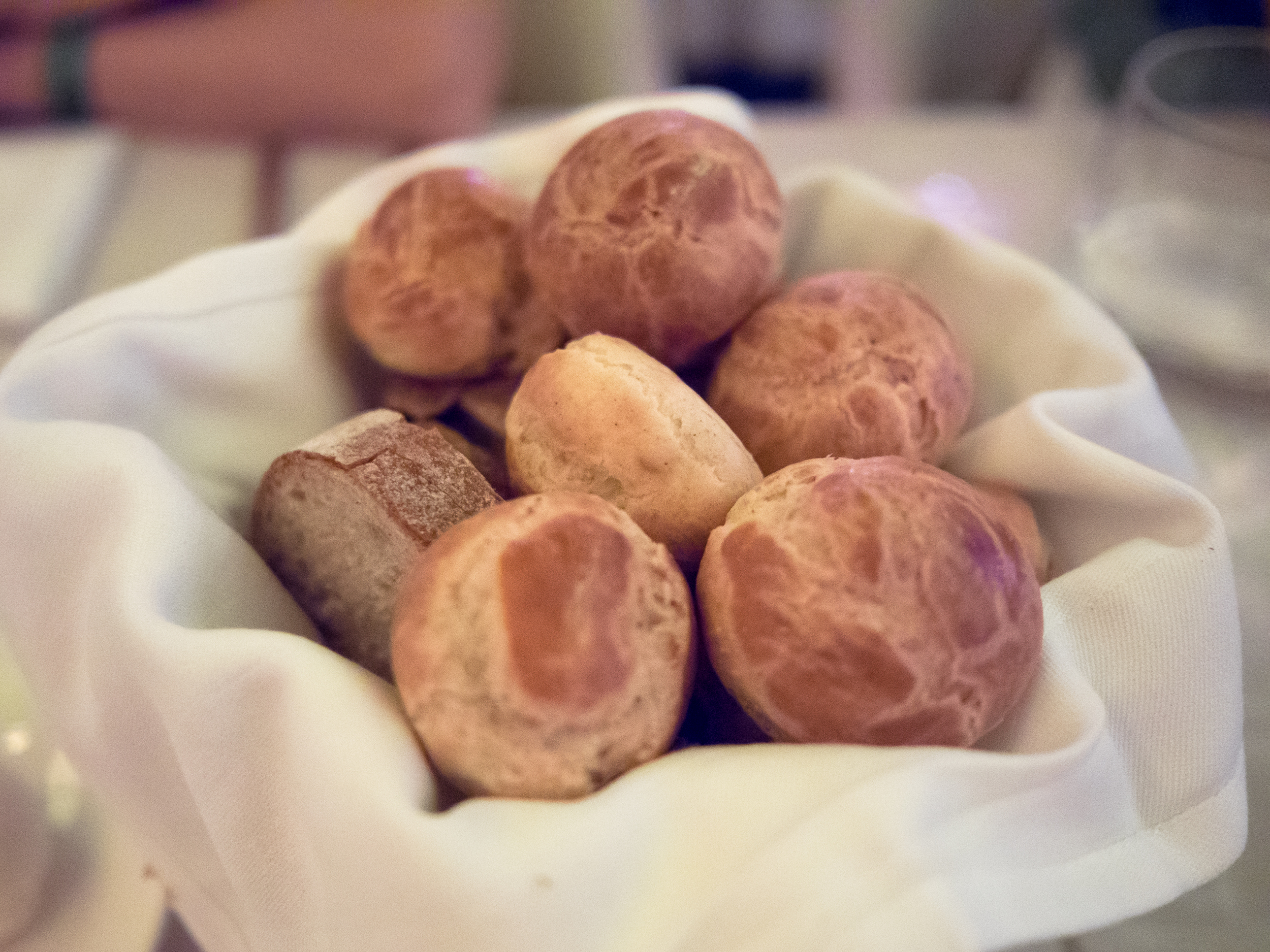 bread basket with gougeres!