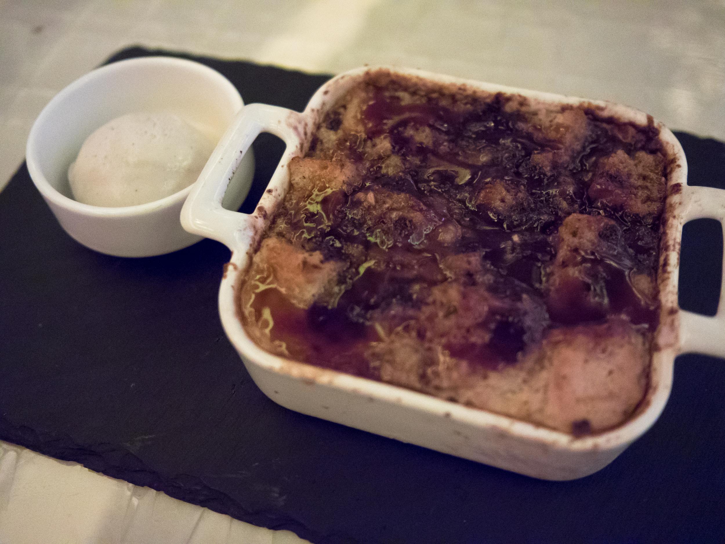 bread pudding.