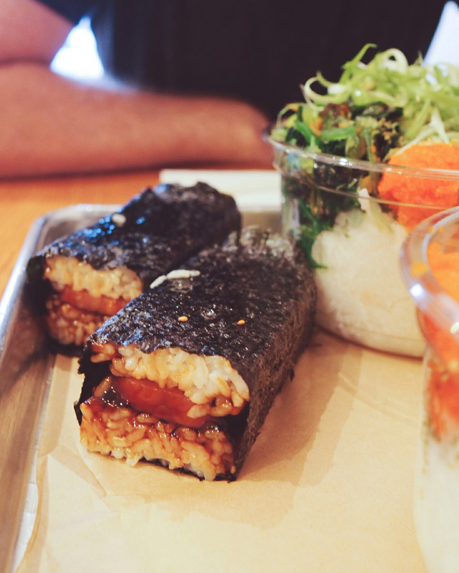 the spam musubi.