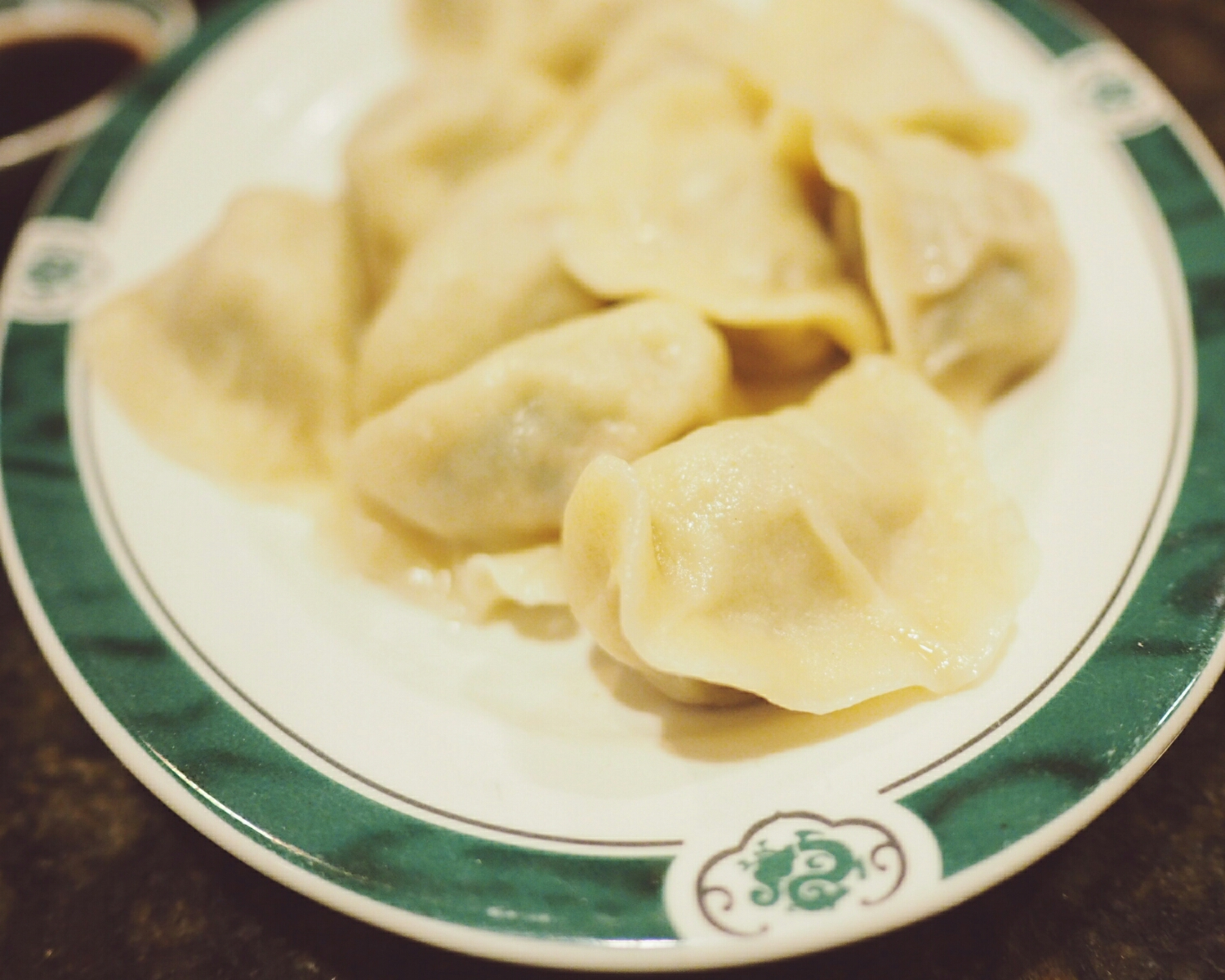 fresh hand-made dumplings, with pork and chinese chives.