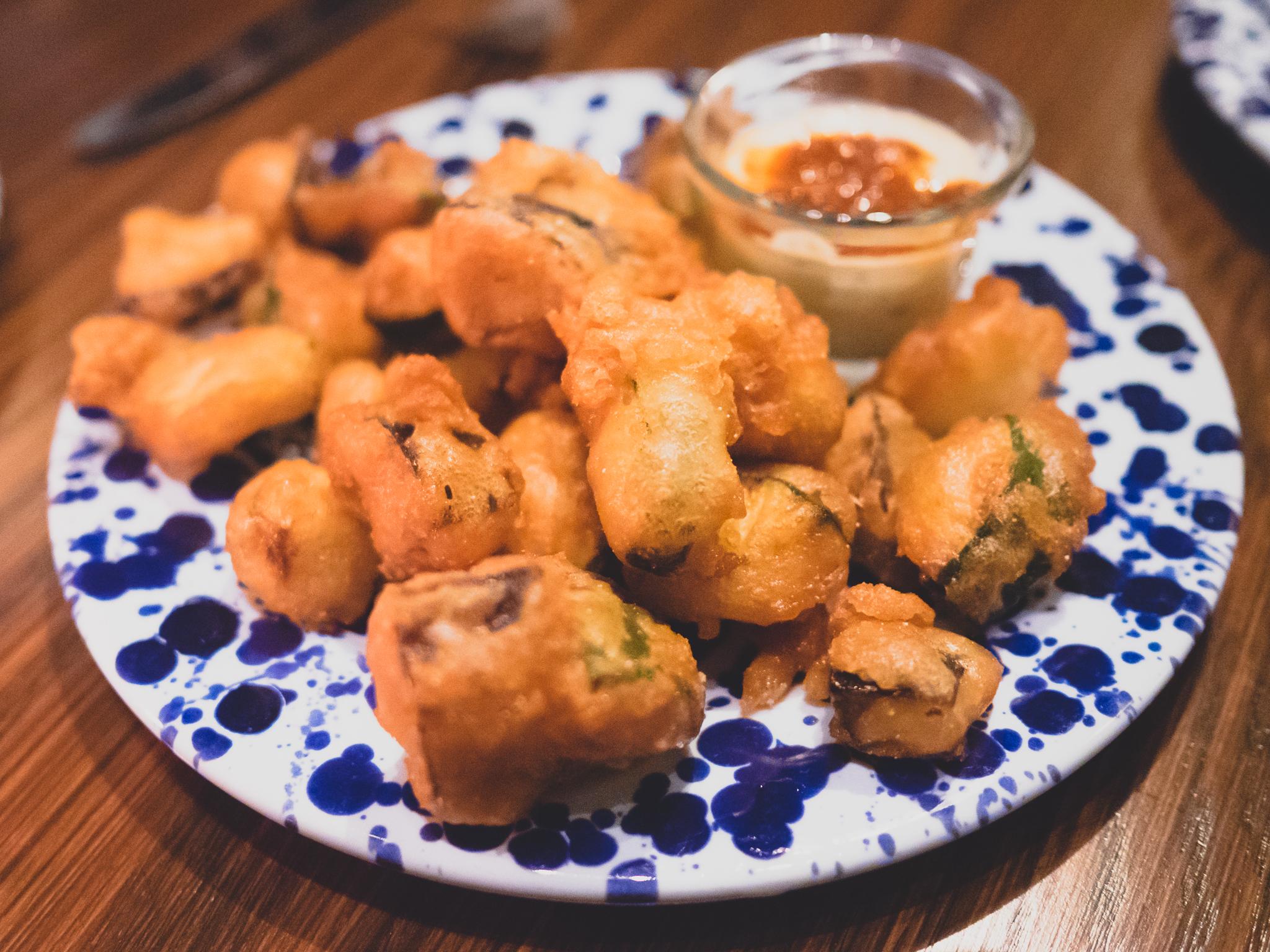 tempura vegetables.