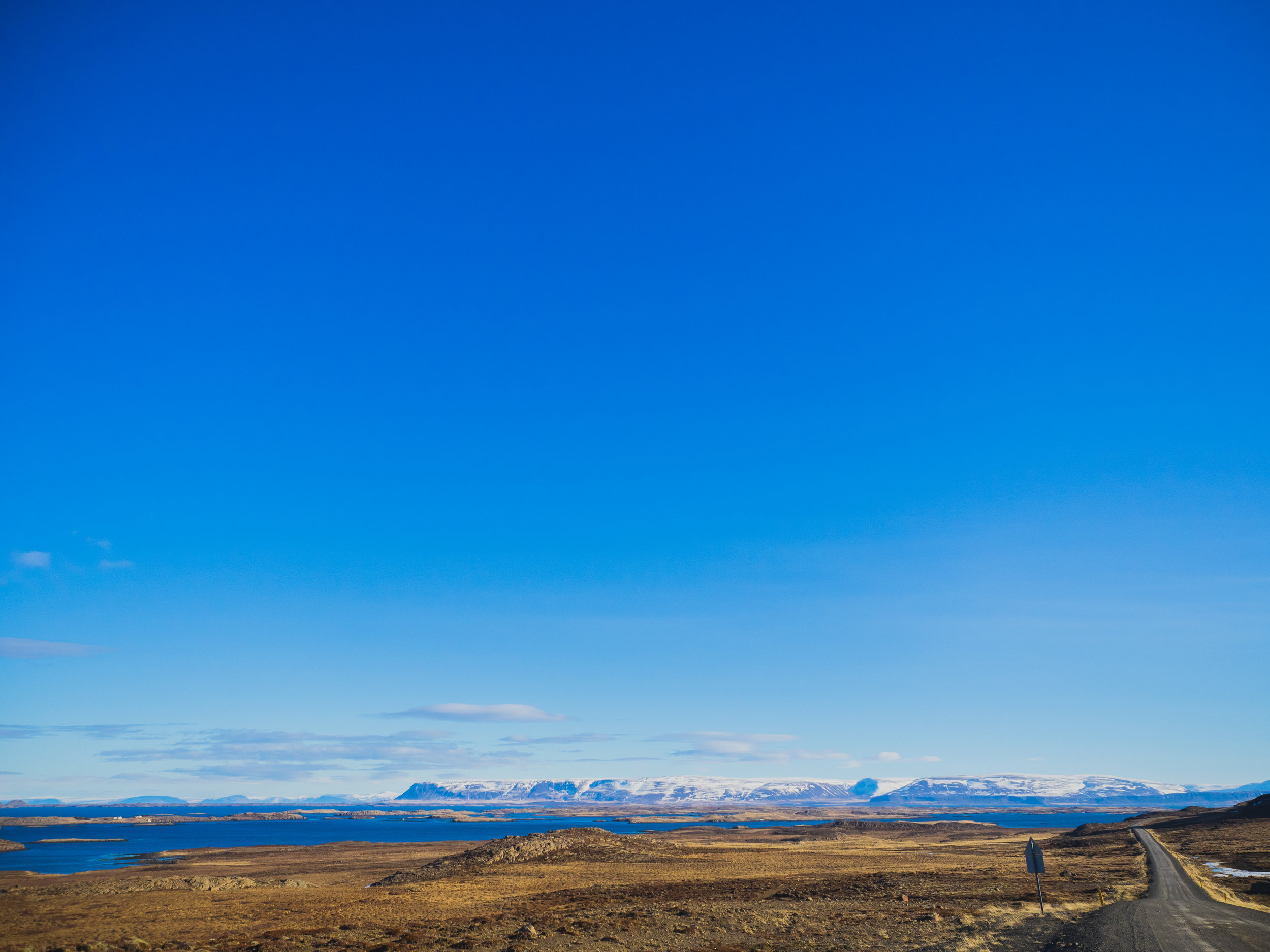 driving into the westfjords.