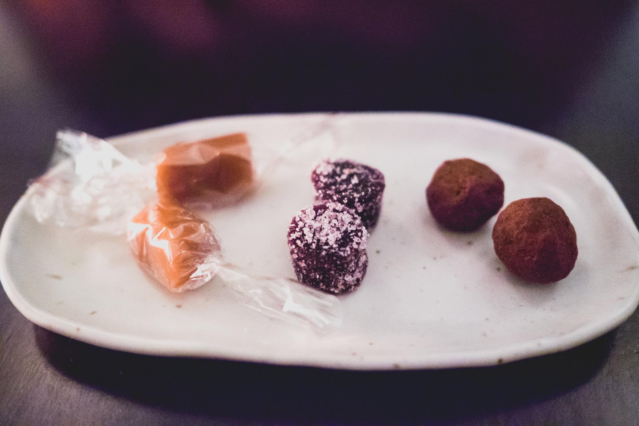 additional sweets, including a  bone marrow caramel .