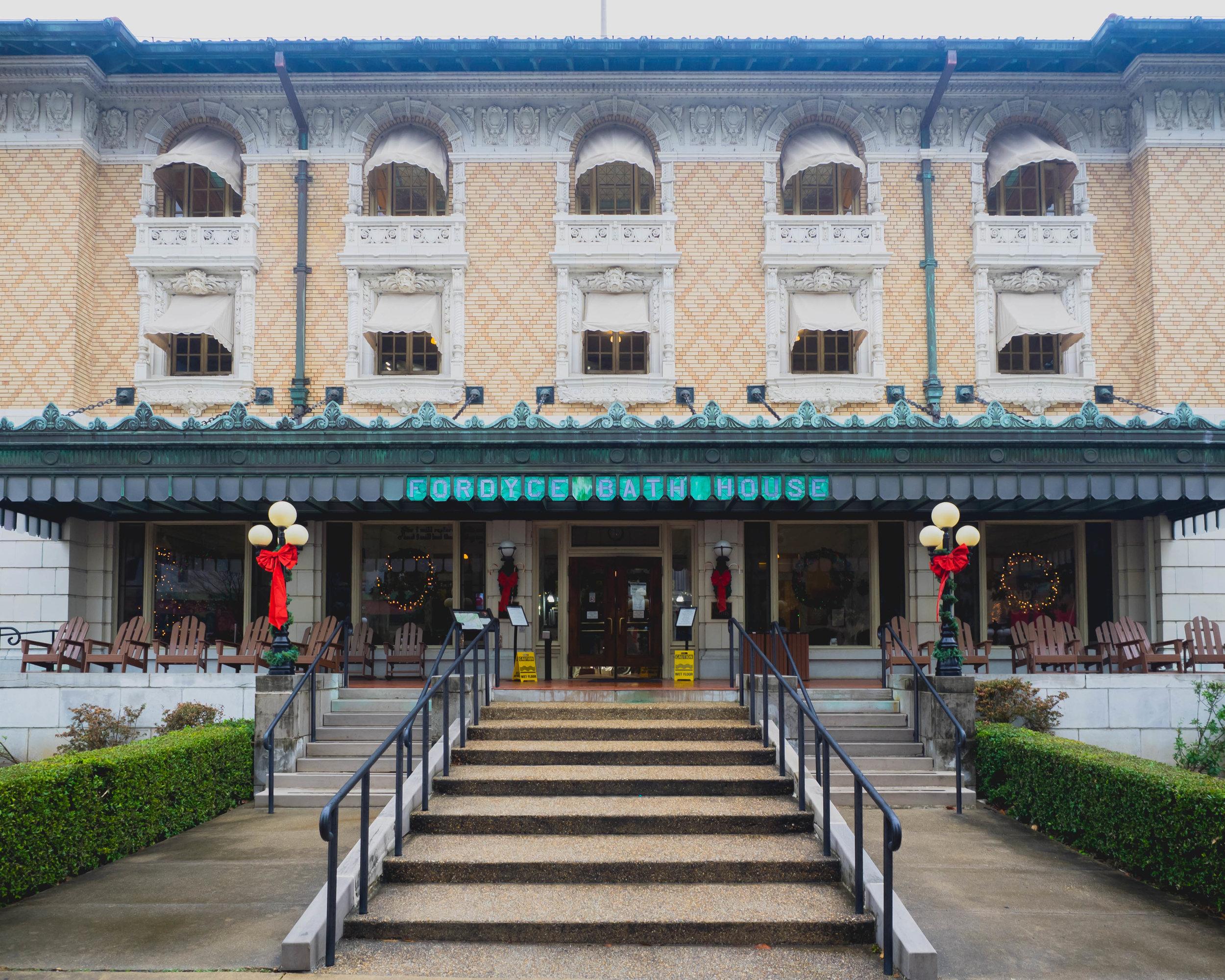 fordyce bathhouse - hot springs natinal park visitor center.