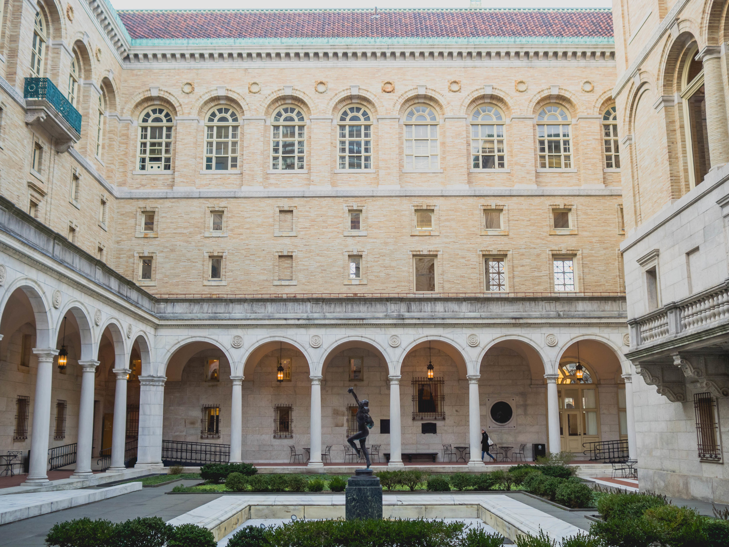 courtyard, boston public library.