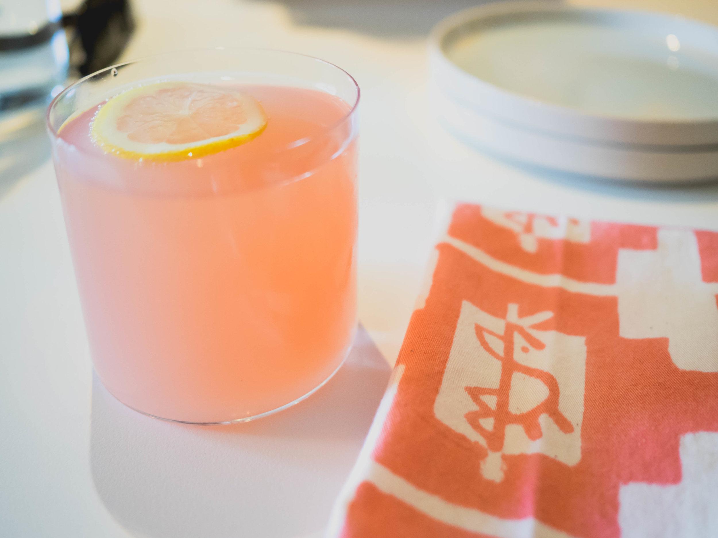 rosewater lemonade spritz.
