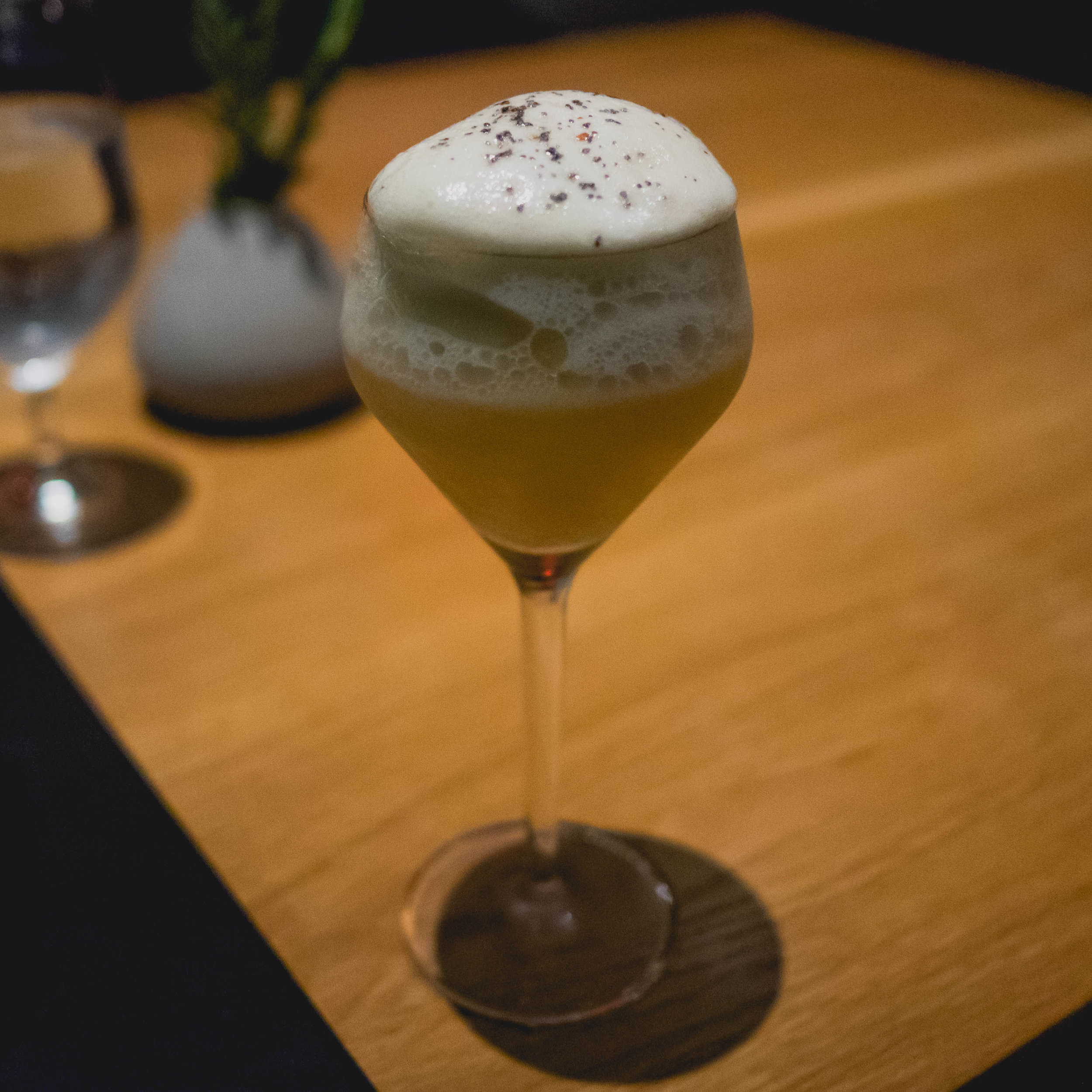 silver lake: brugal rum, lie juice, smoked tamarind cordial, jasmine tea sea salt foam.