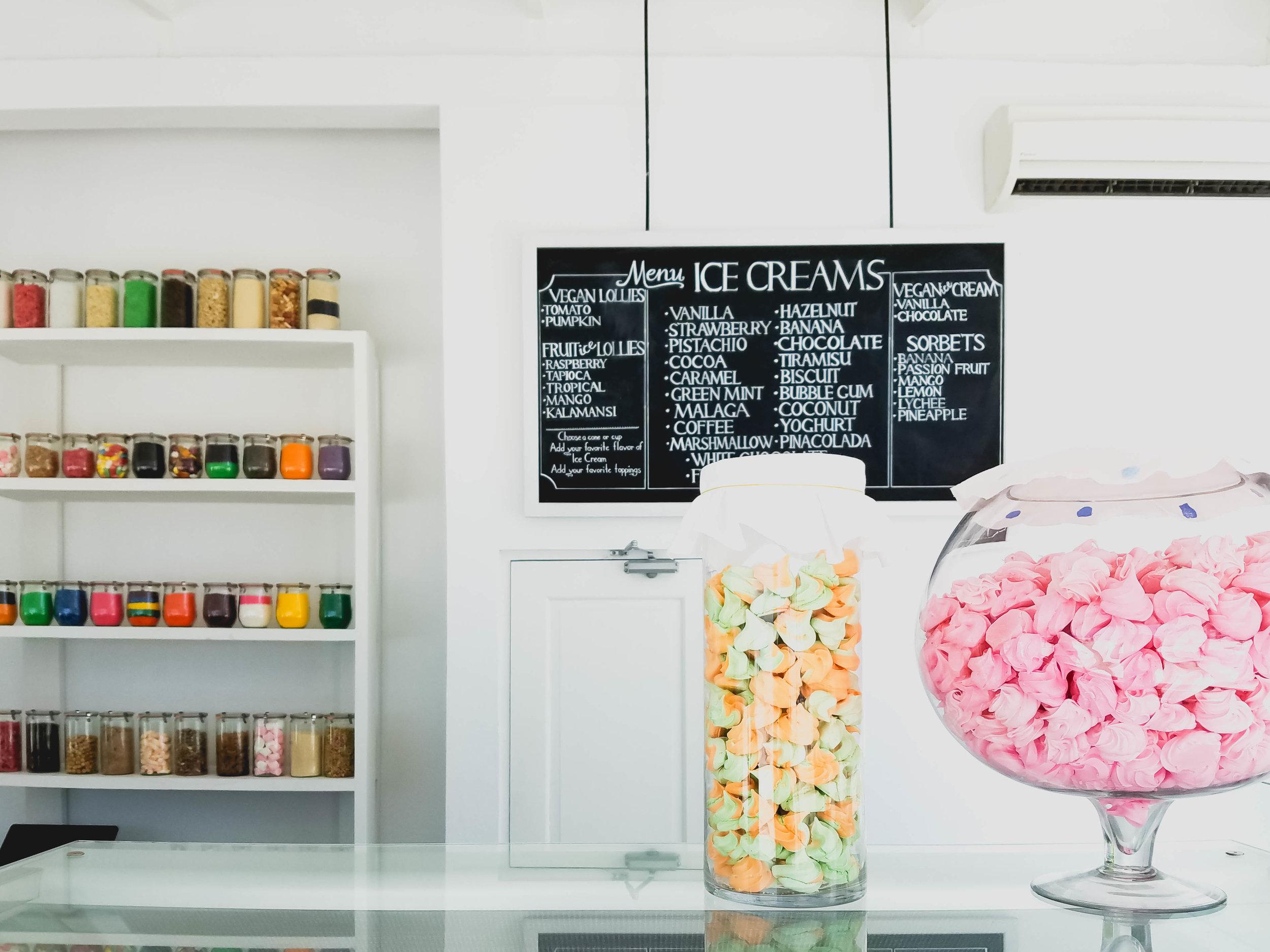 gelato bar on the beach!