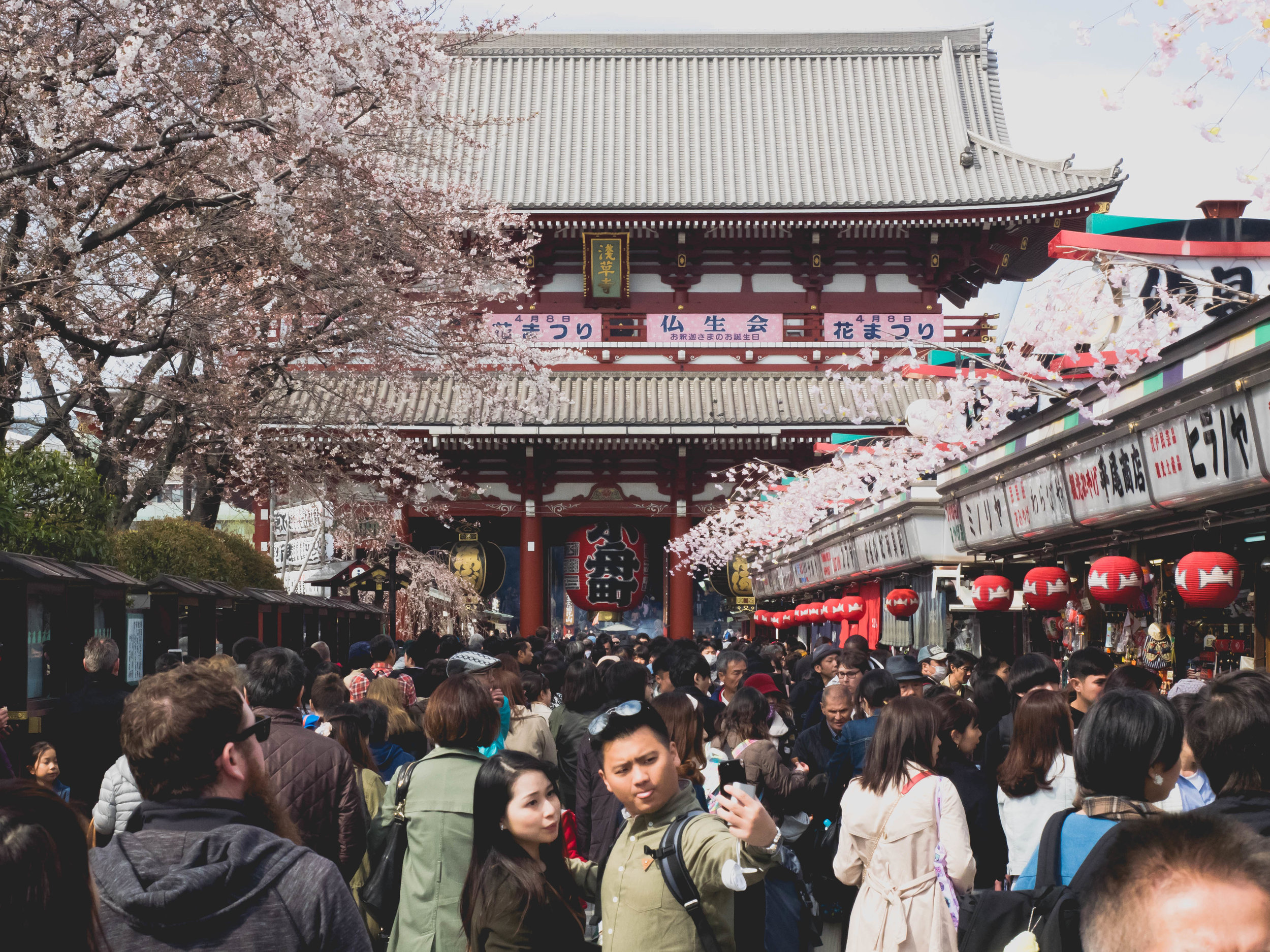 sensoji temple crowds.