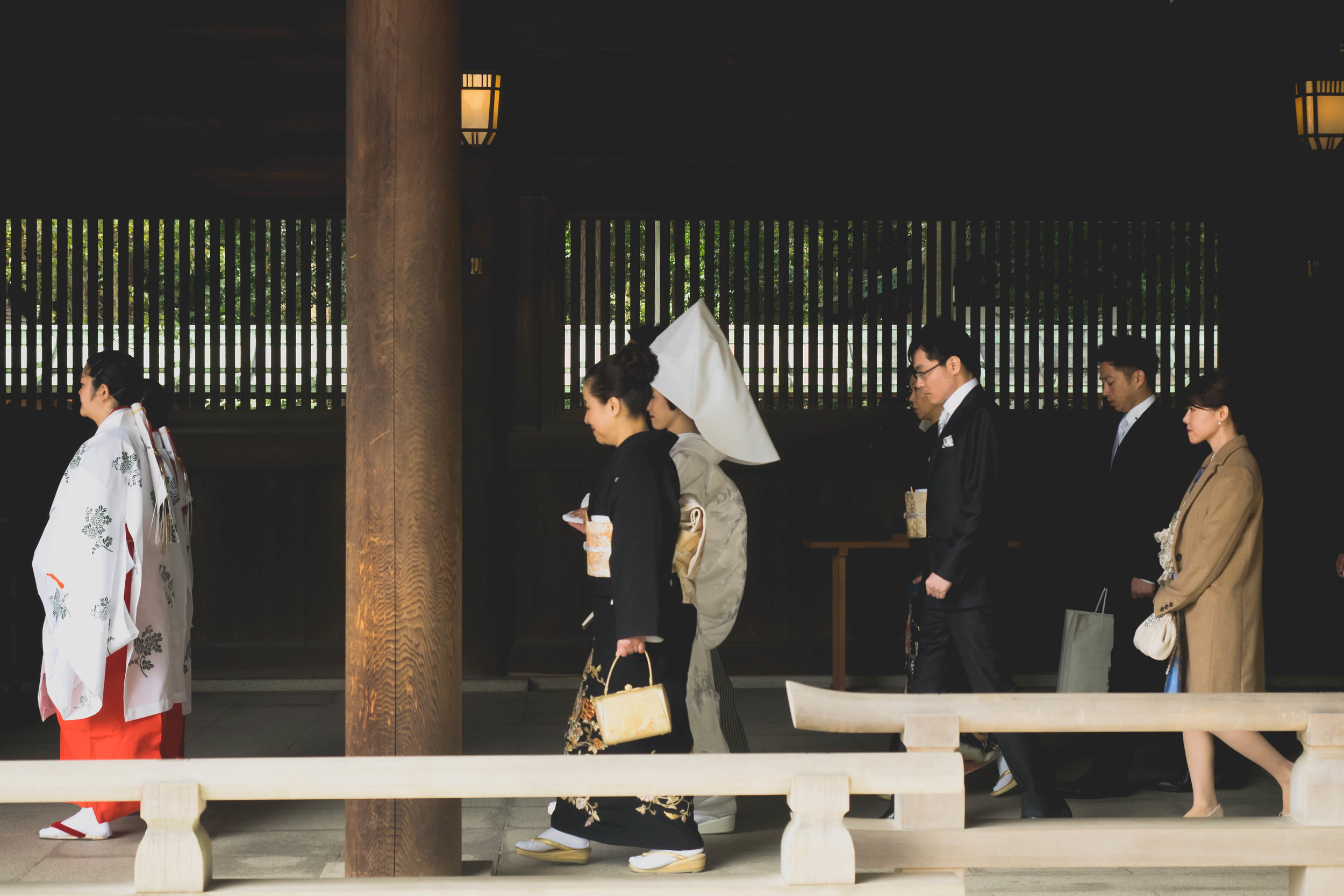 wedding spotted at meiji jingu shrine.