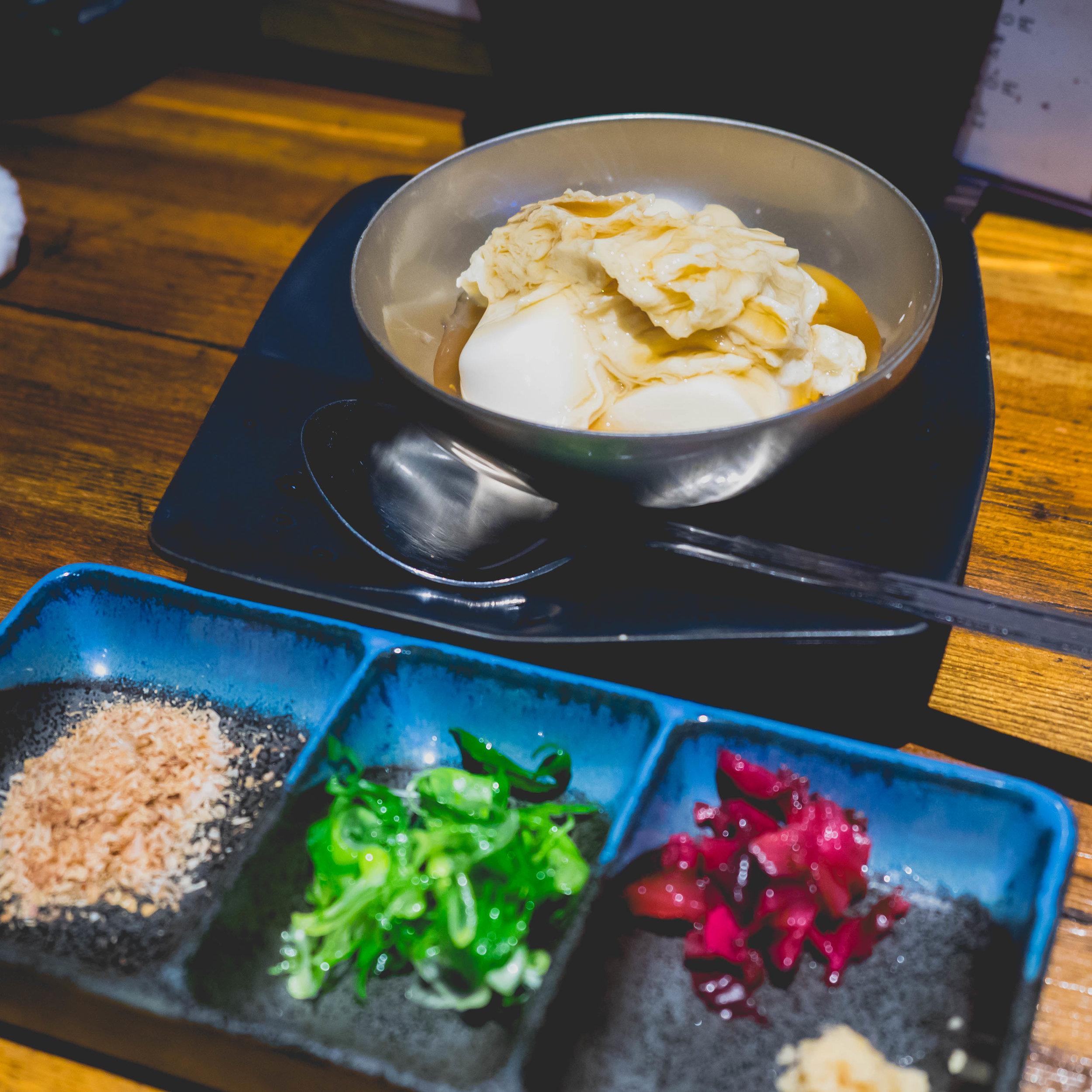 kyoto style chilled tofu.