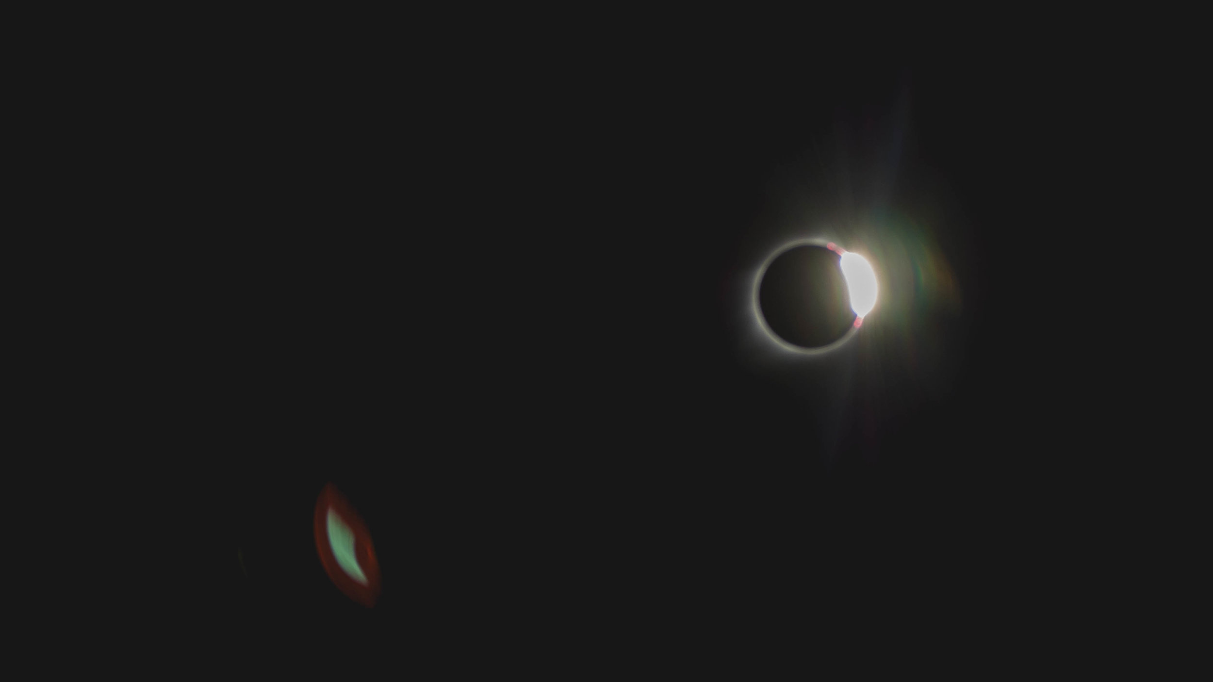 """diamond ring"" as totality ended."