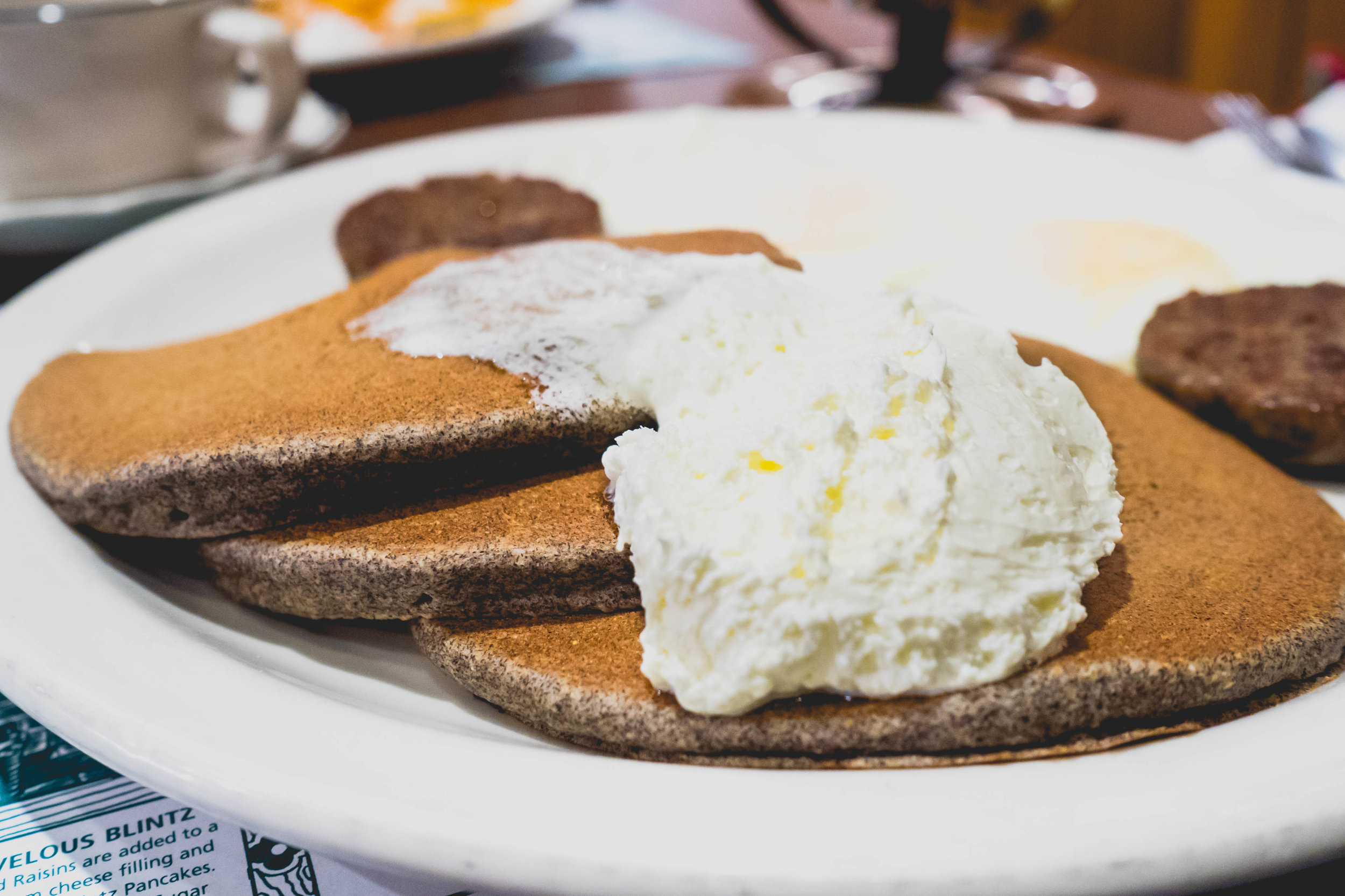 smoky mountain buckwheat cakes  with whipped butter.