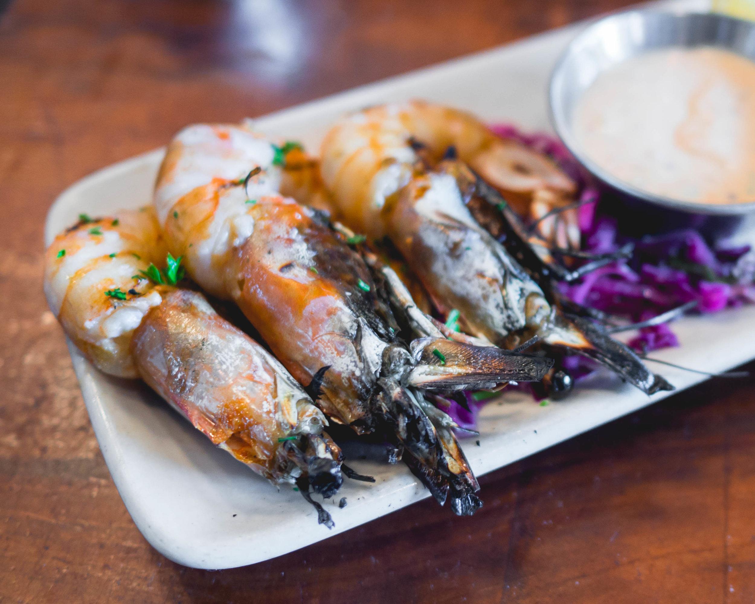 grilled gulf shrimp .