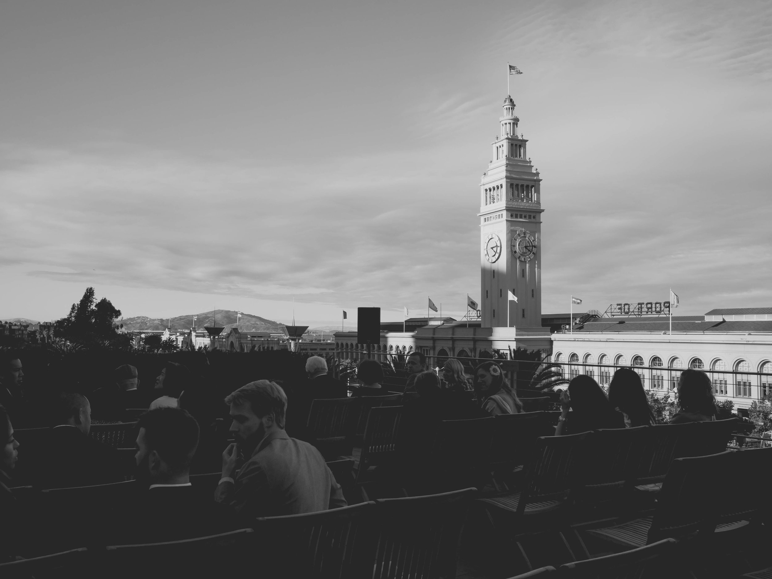 ceremony site overlooking ferry building.