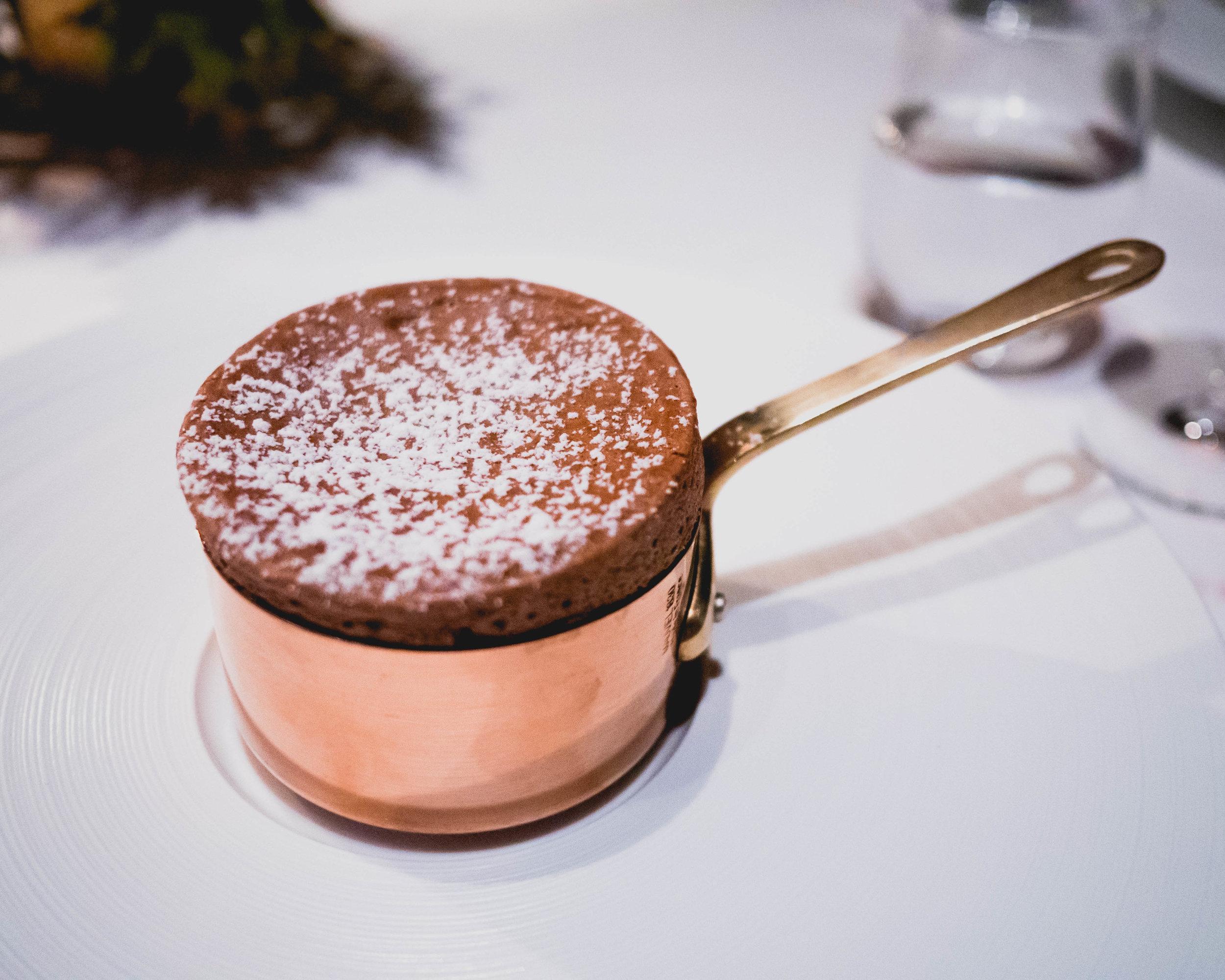 chocolate souffle .