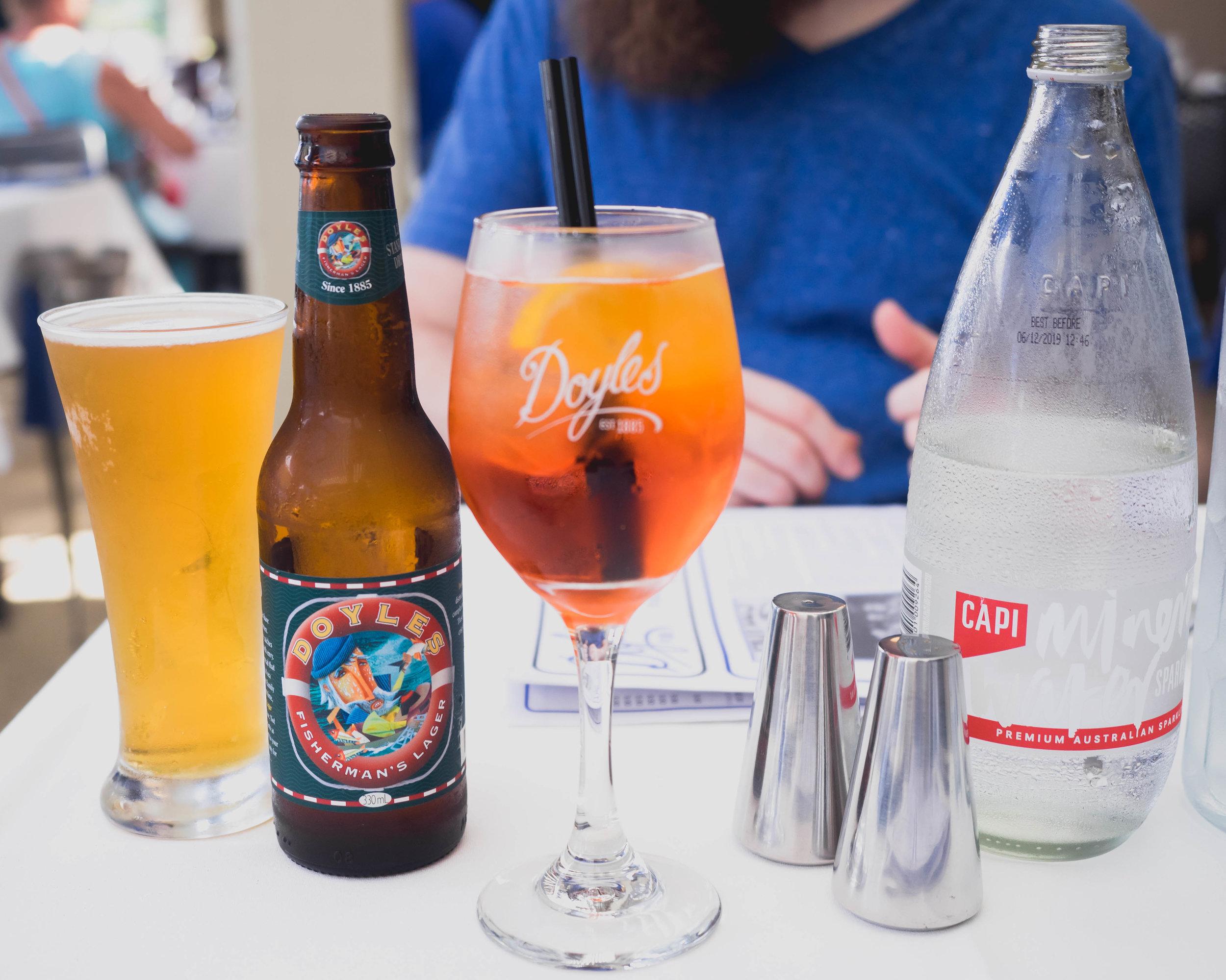 beer & aperol spritz .