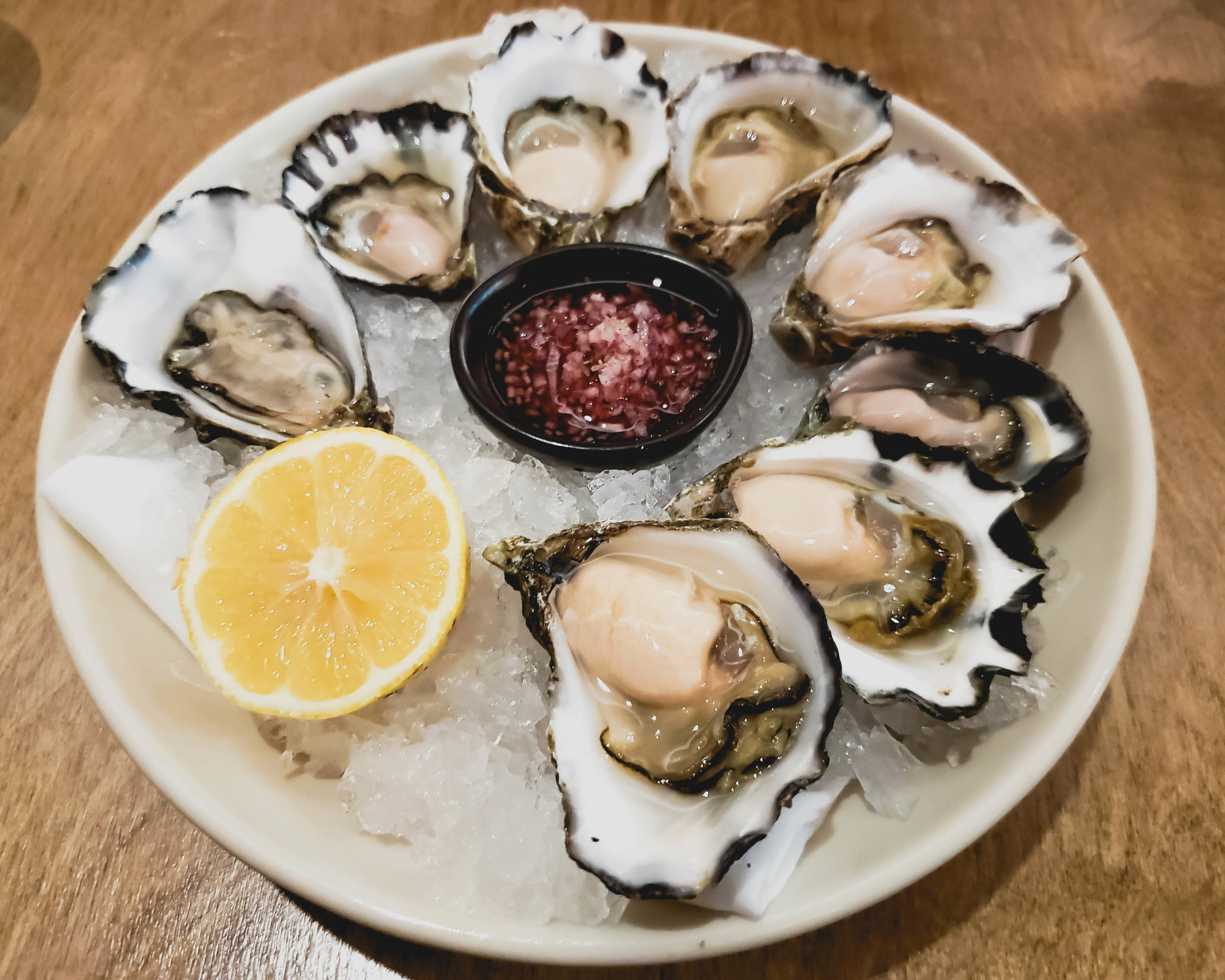 assorted local  rock oysters .