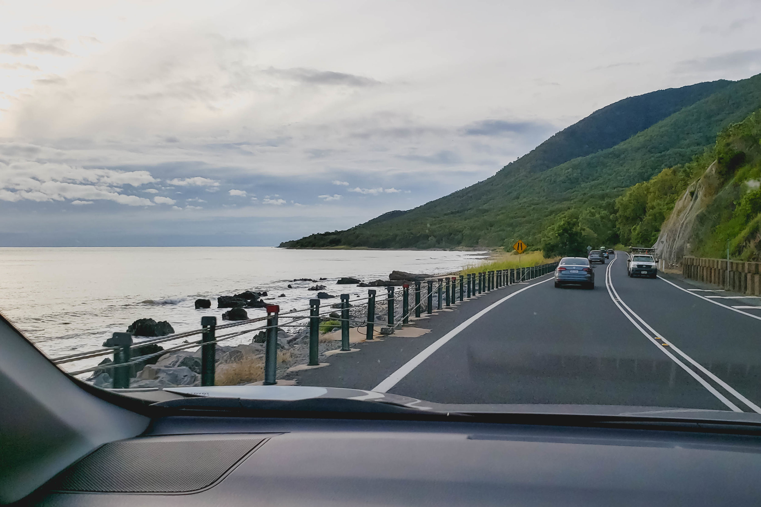 on the road from port douglas to cairns.